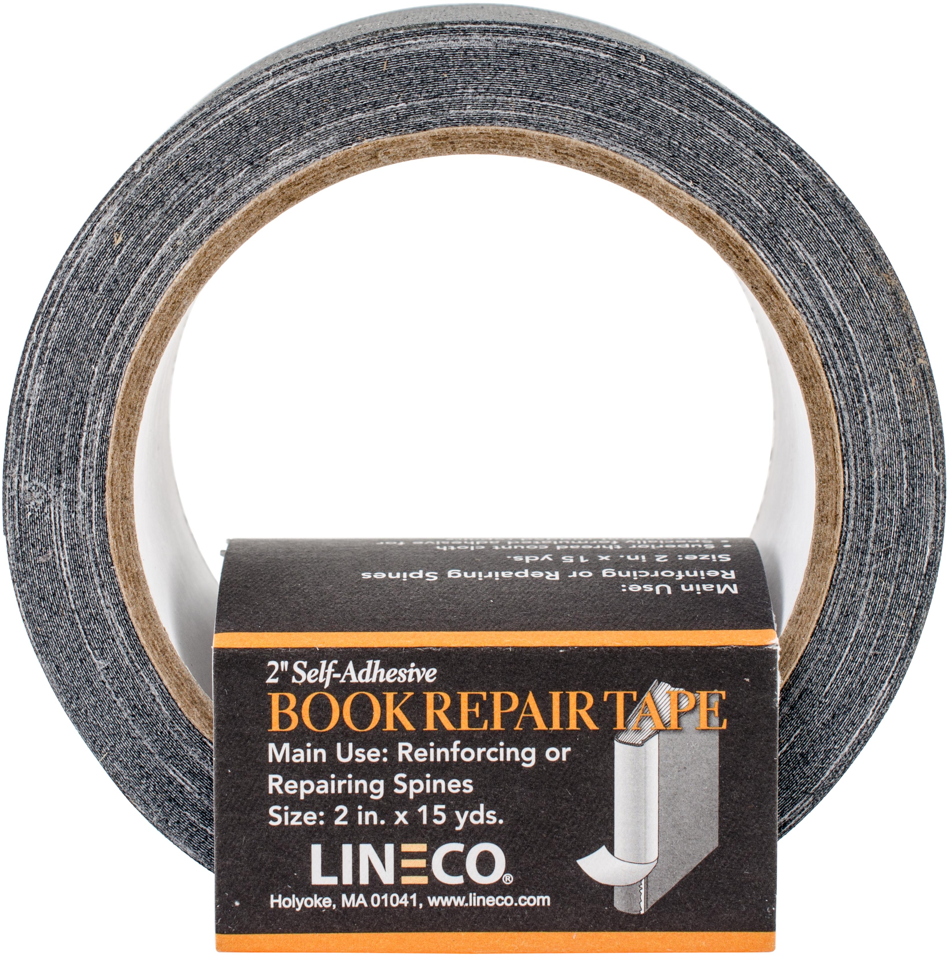 Lineco Self-Adhesive Book Repair Tape-Black 2X15yd
