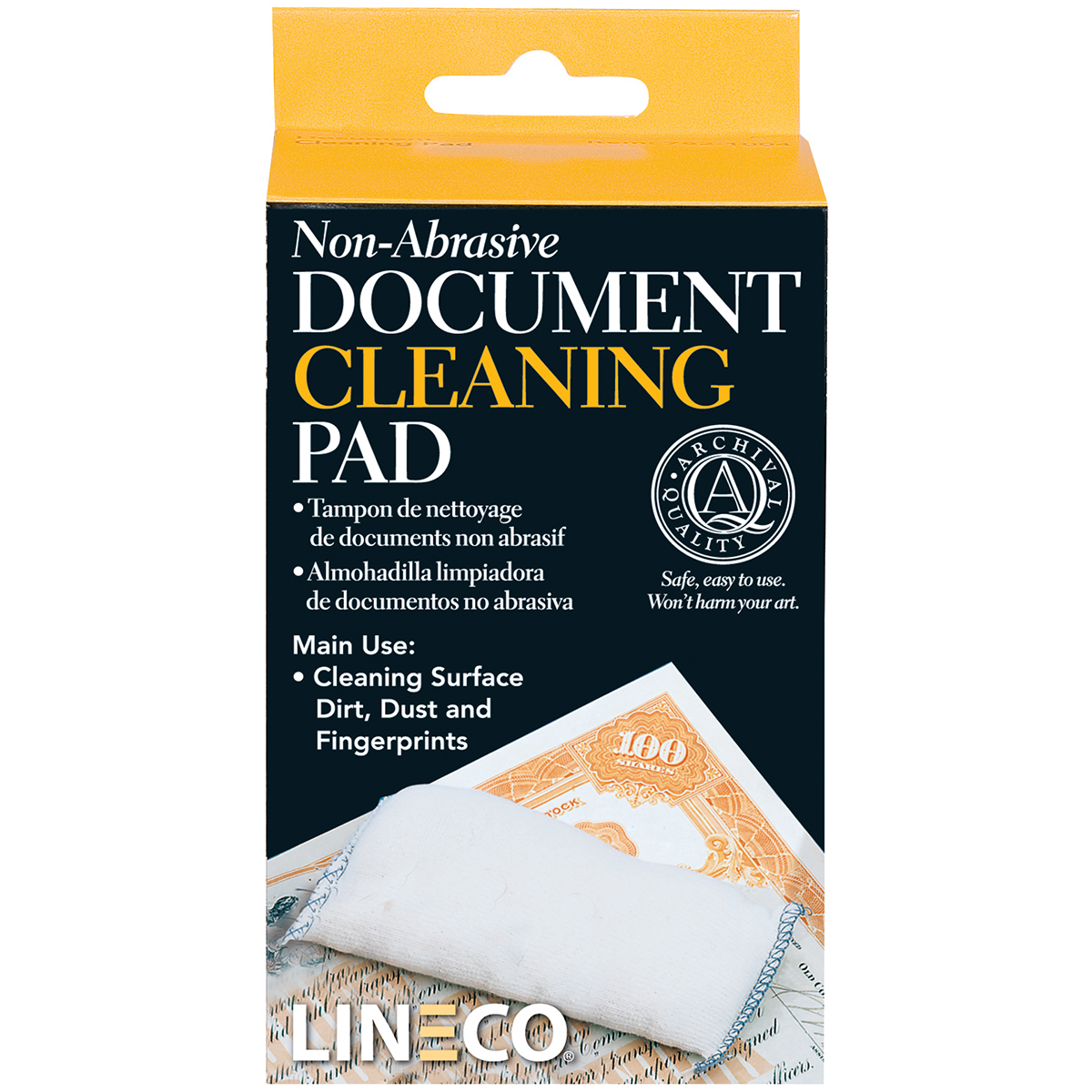 Lineco Non-Abrasive Document Cleaning Pad-2X4.75