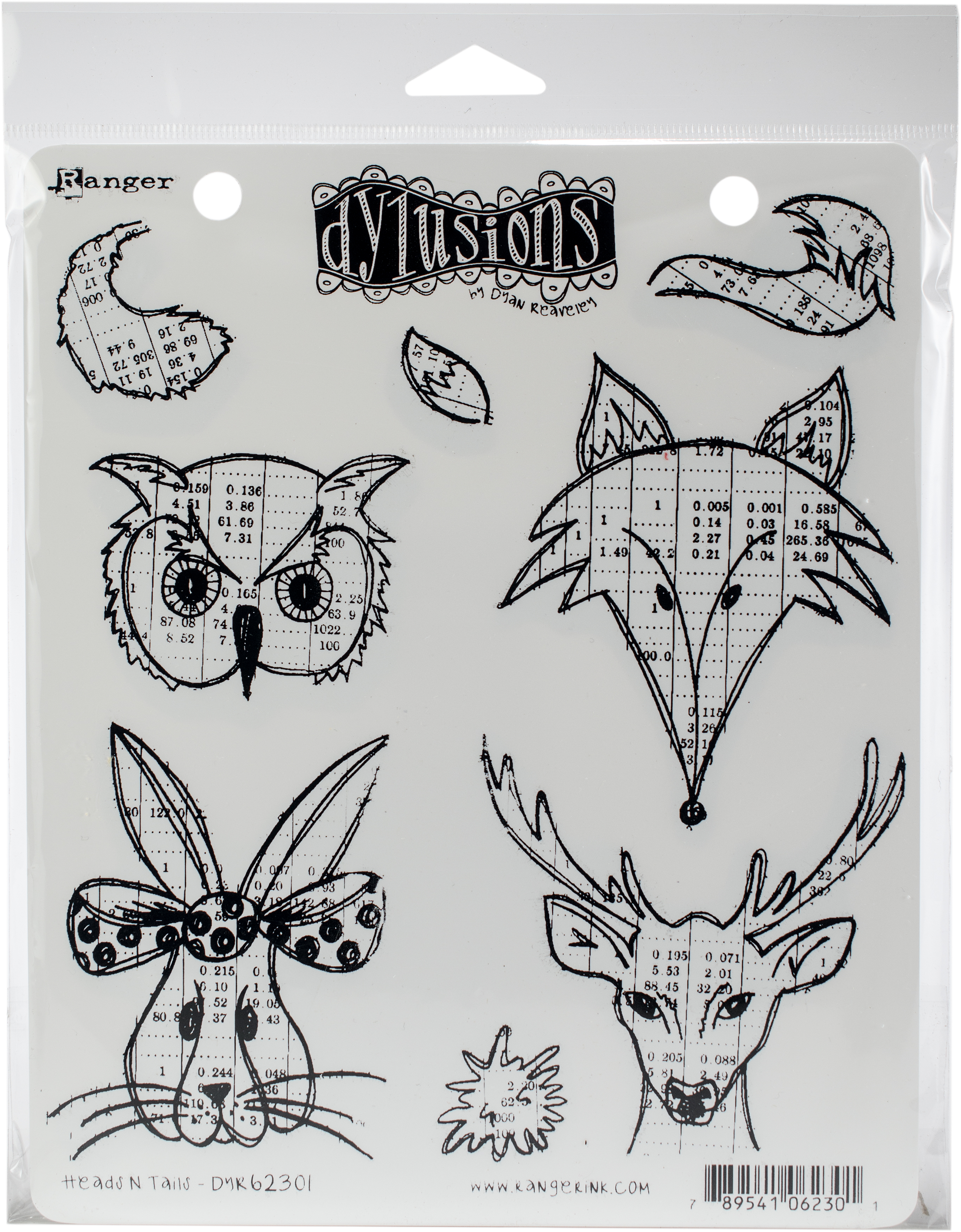 Dyan Reaveley's Dylusions Cling Stamp Collections 8.5X7-Heads N Tails