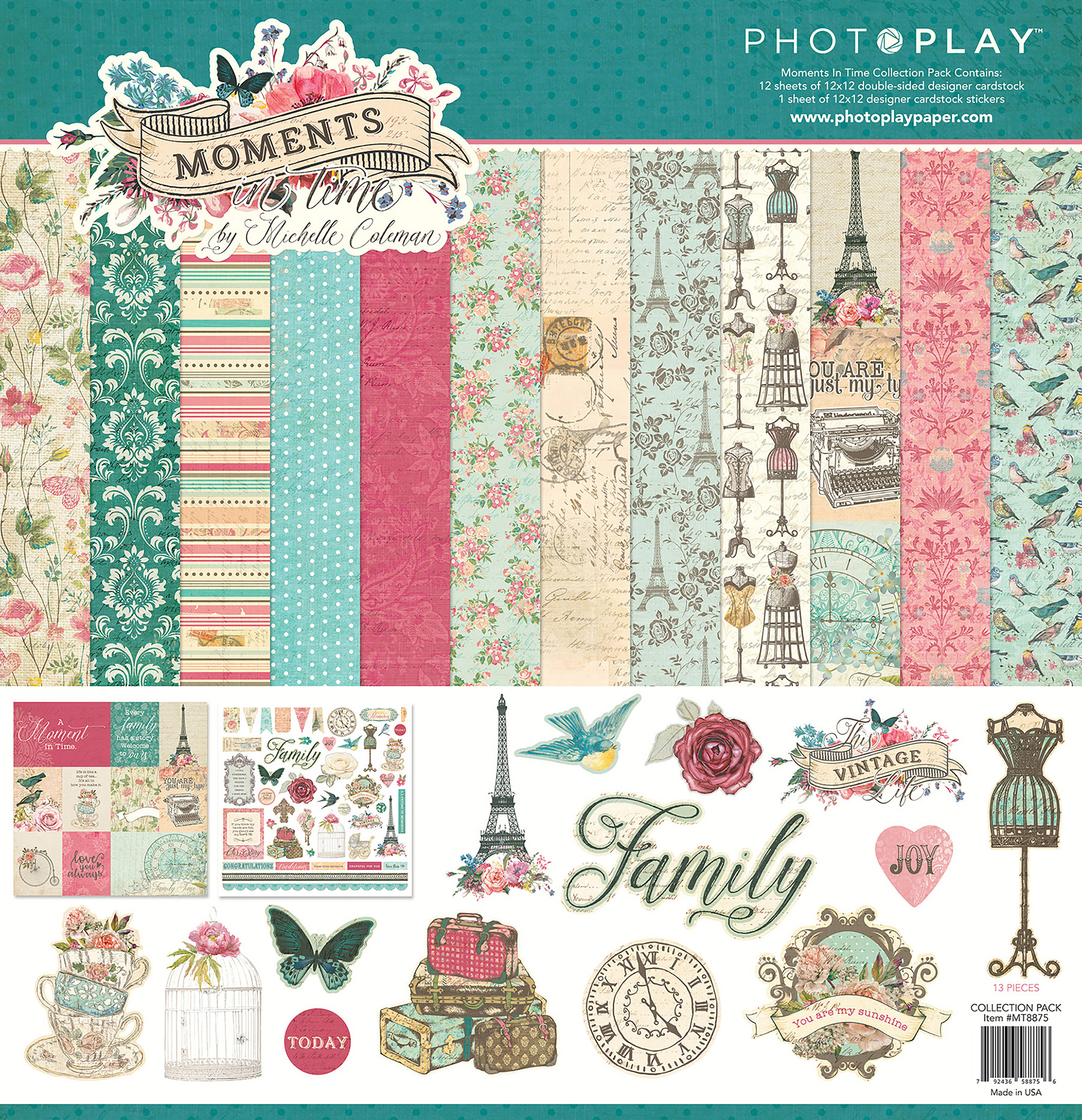PhotoPlay - Moments in Time - 12x12 Collection Pack