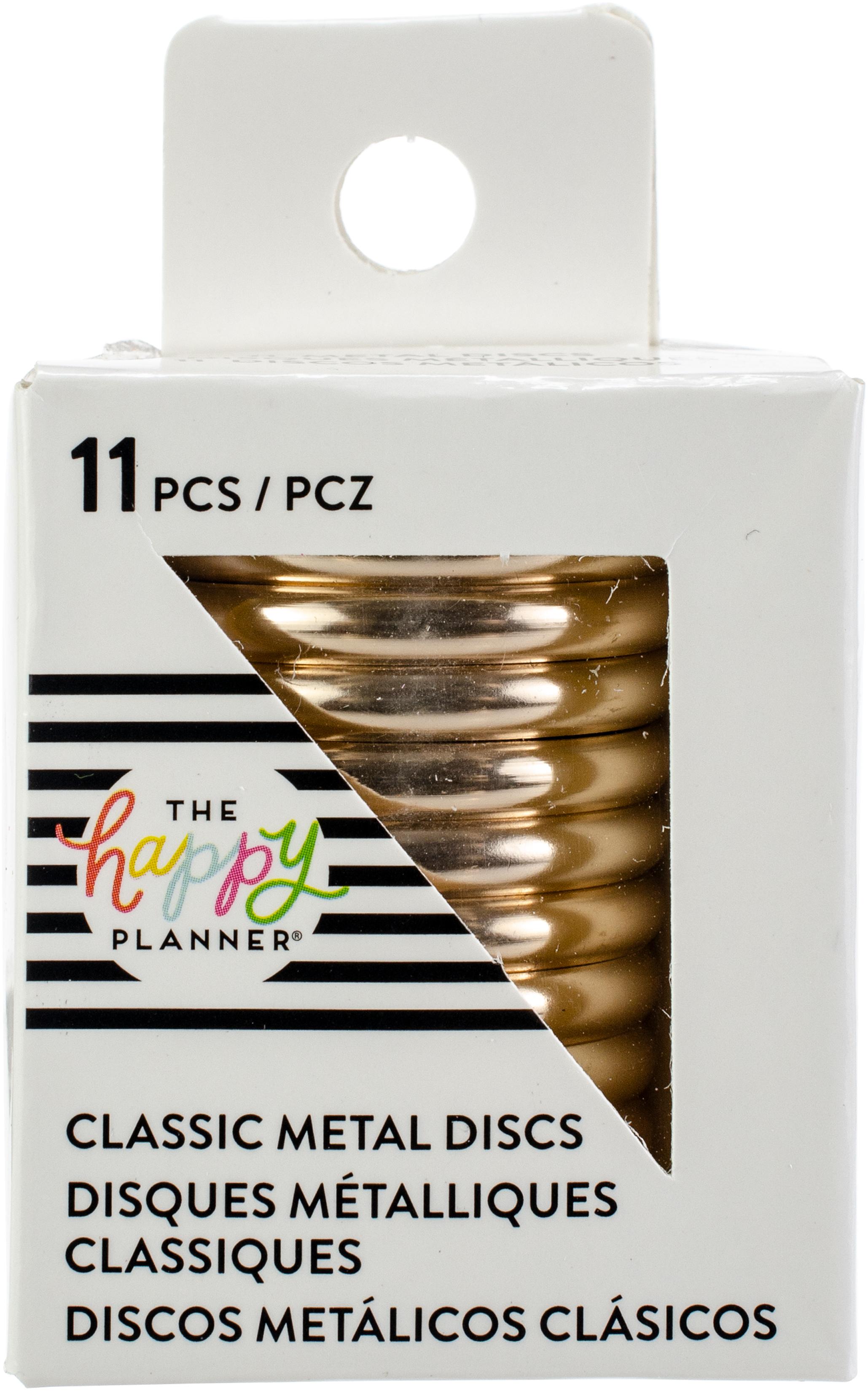 Happy Planner Medium Metal Expander Discs 11/Pkg-Rose Gold