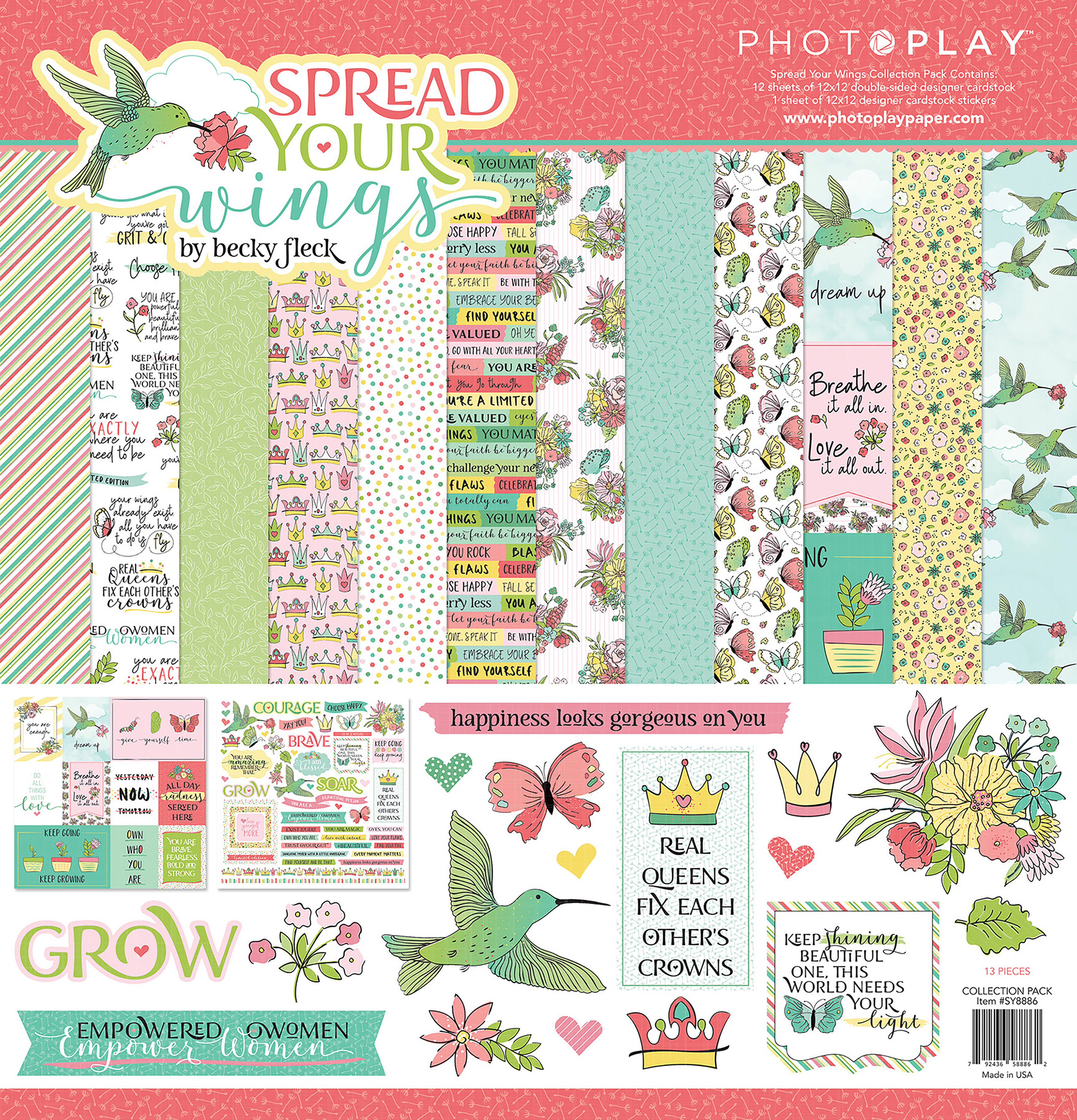 PhotoPlay Collection Pack 12X12-Spread Your Wings