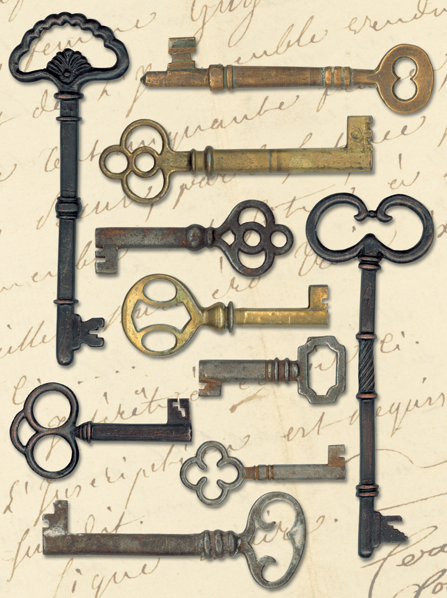 Life's Journey Metal Keys
