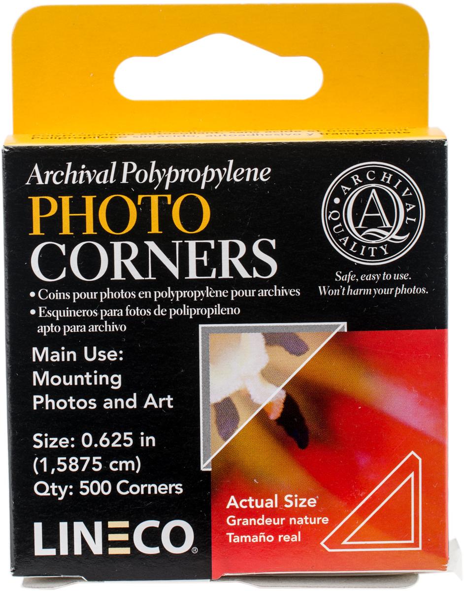 Lineco Polypropylene Photo Mounting Corners 500/Pkg-Clear .625