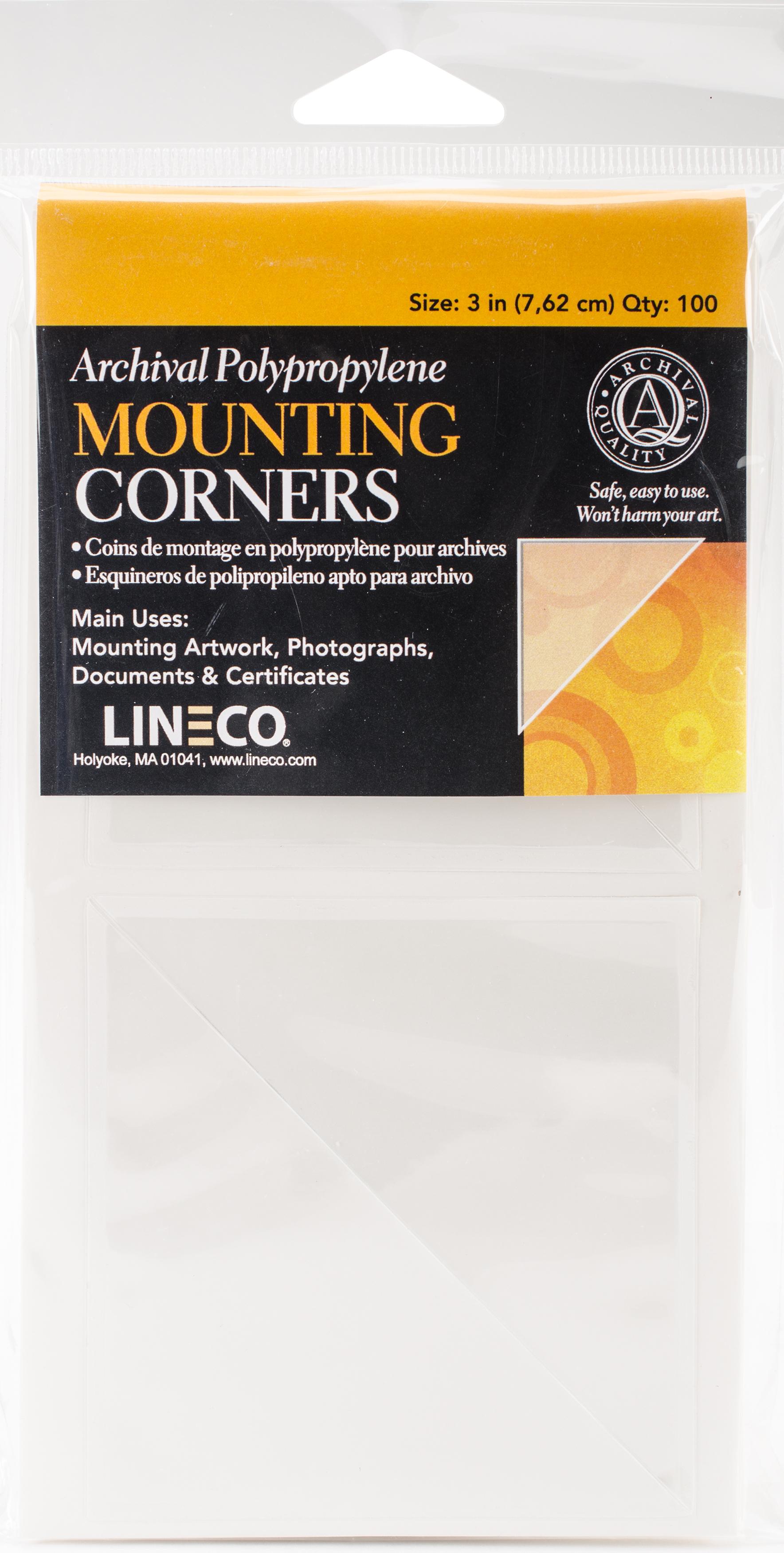 Lineco Polypropylene Photo Mounting Corners 100/Pkg-Clear 3