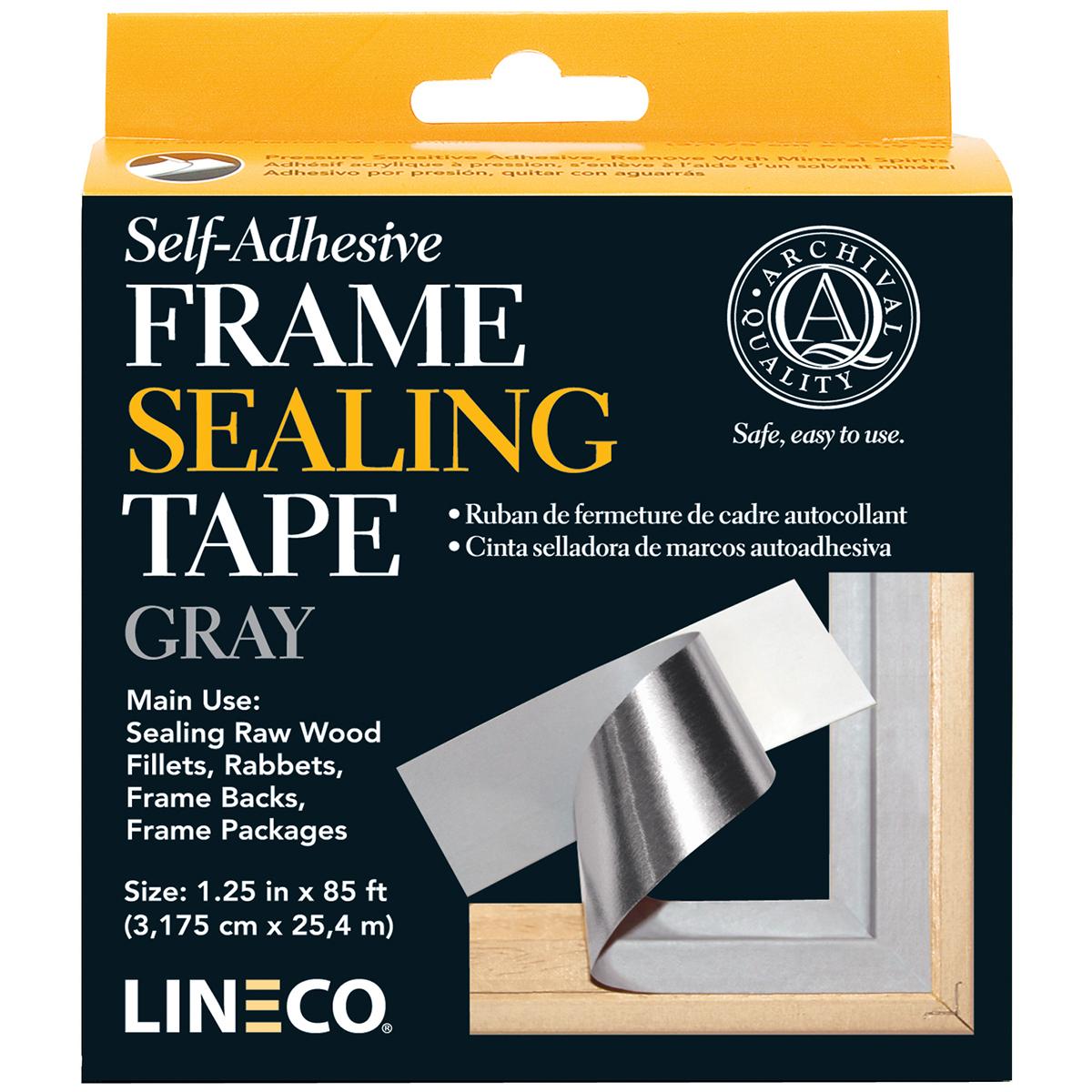 Lineco Self-Adhesive Frame Sealing Tape-Blue/Gray 1.25X85'