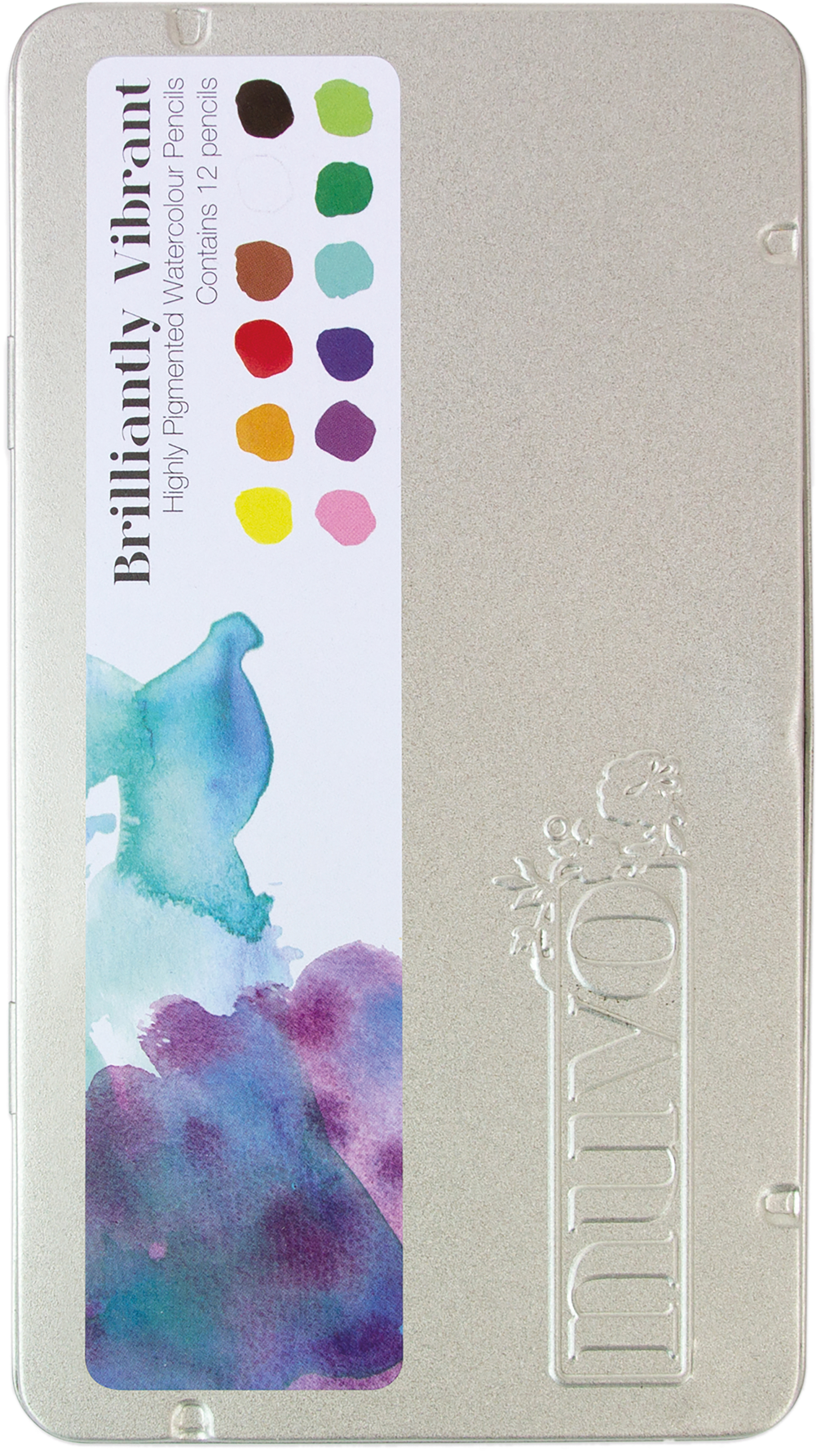 Nuvo Watercolor Pencils 12/Pkg-Brilliantly Vibrant