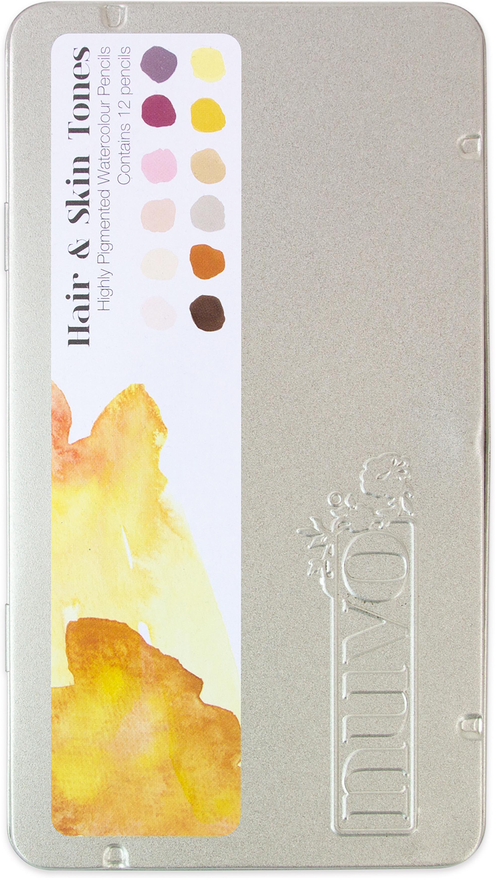 Nuvo Watercolor Pencils 12/Pkg-Hair & Skin Tones
