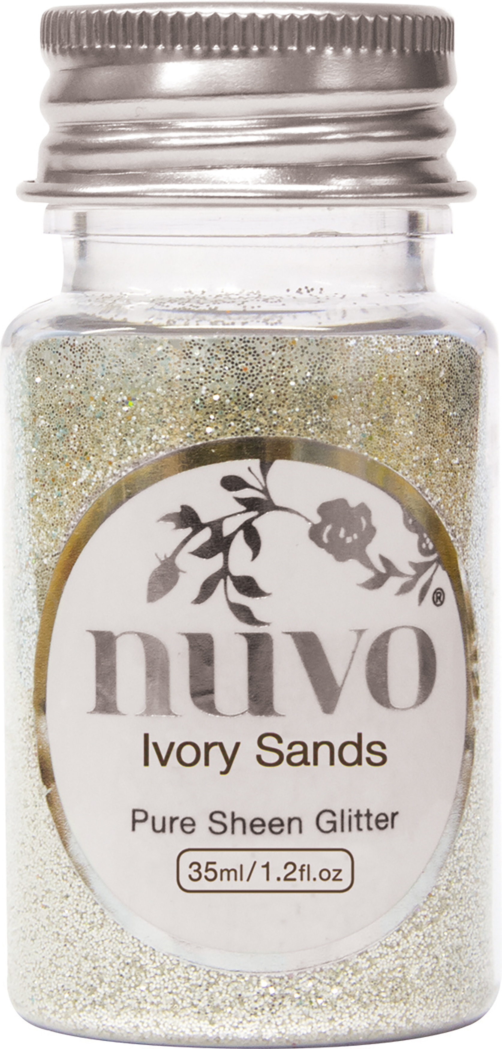 Nuvo Pure Sheen Glitter 1oz-Ivory Sands
