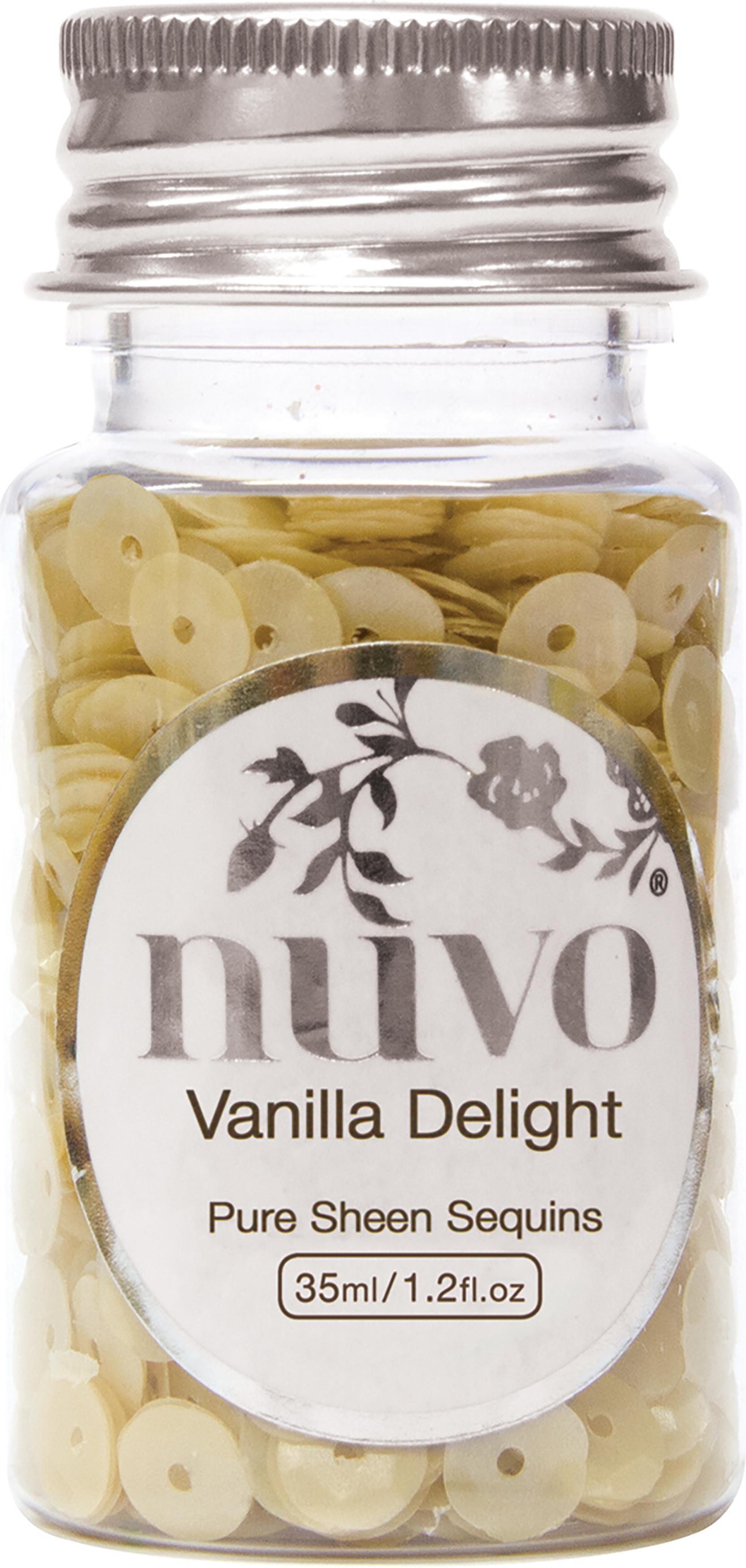Nuvo Pure Sheen Sequins 1oz-Vanilla Delight