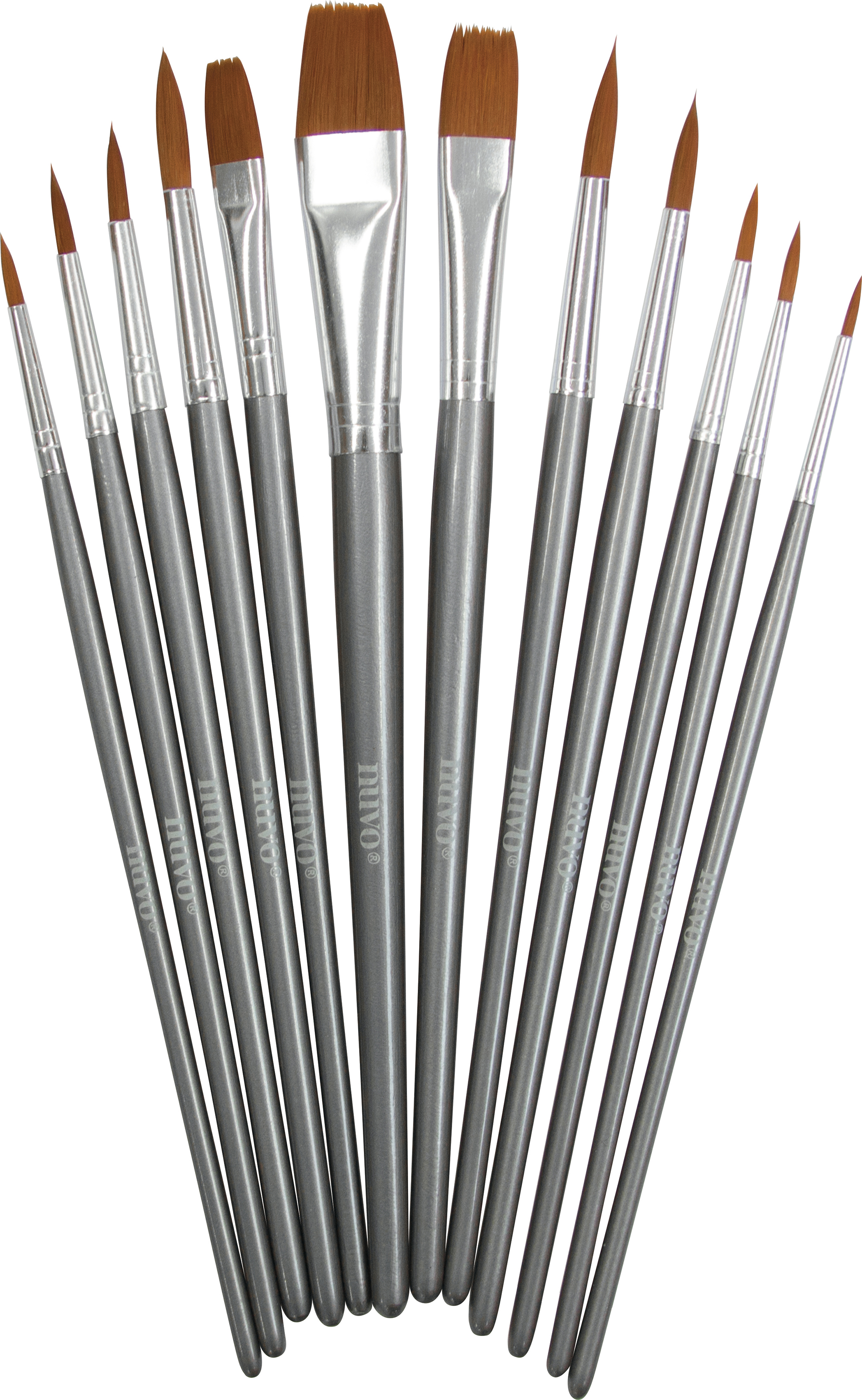 Nuvo Paint Brushes 12/Pkg-
