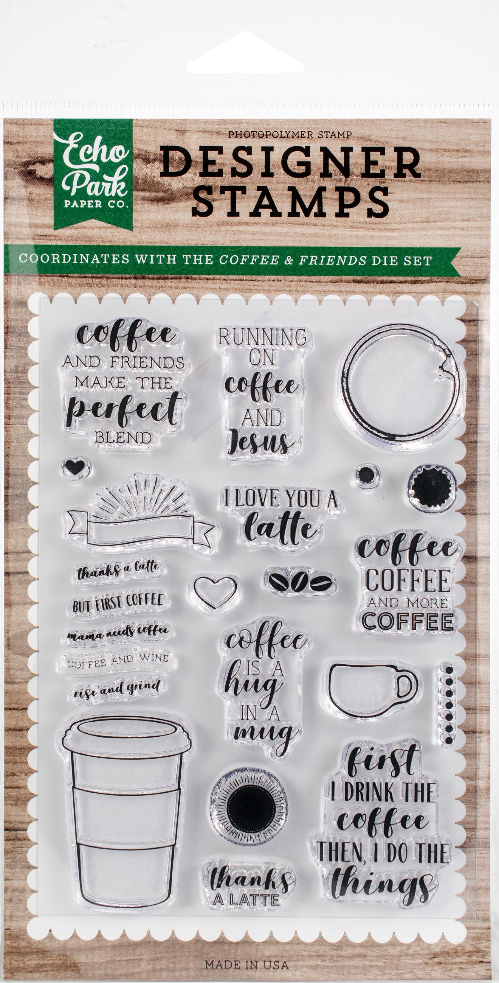 Echo Park - Designer Stamps Coffee & Friends (EPSTAMP167)