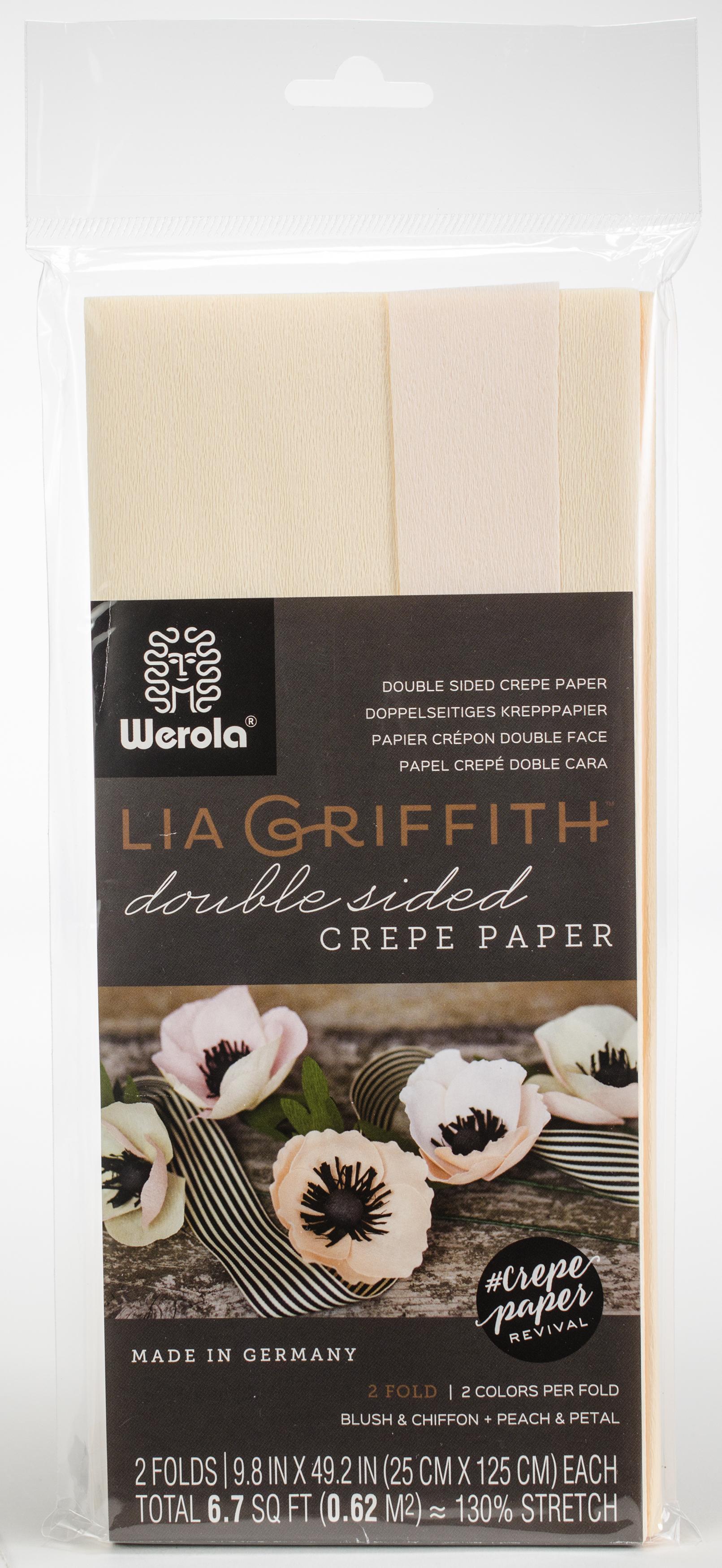 Double-Sided Extra Fine Crepe Paper 2/Pkg-Blush/Chiffon & Petal/Peach