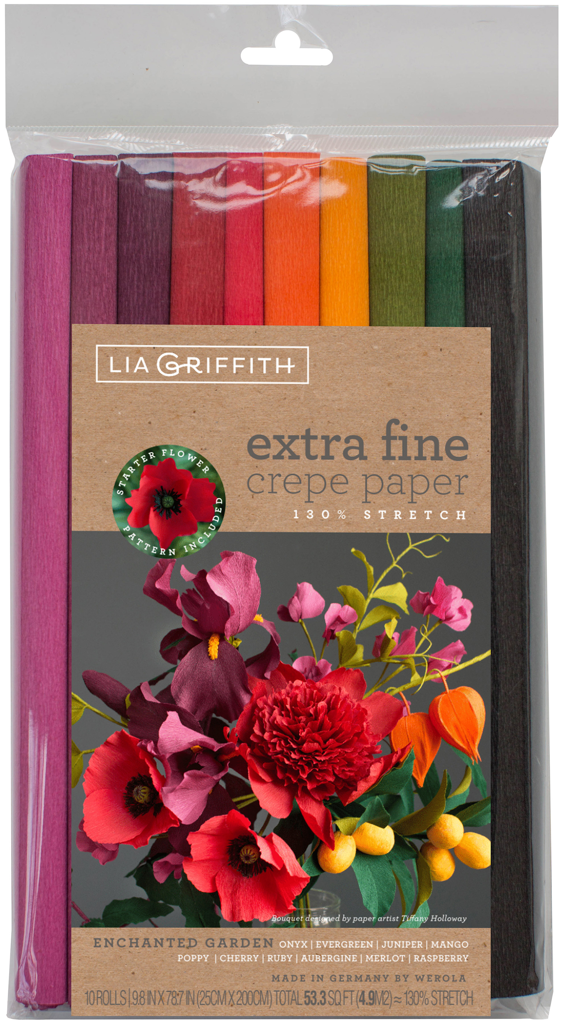Extra Fine Crepe Paper 10/Pkg-Enchanted Garden