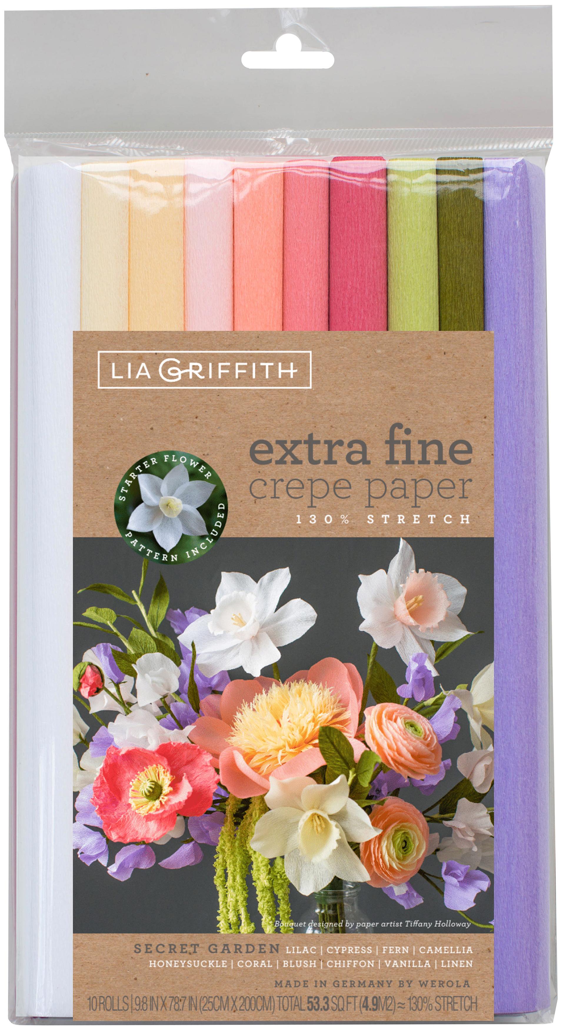 Extra Fine Crepe Paper 10/Pkg-Secret Garden