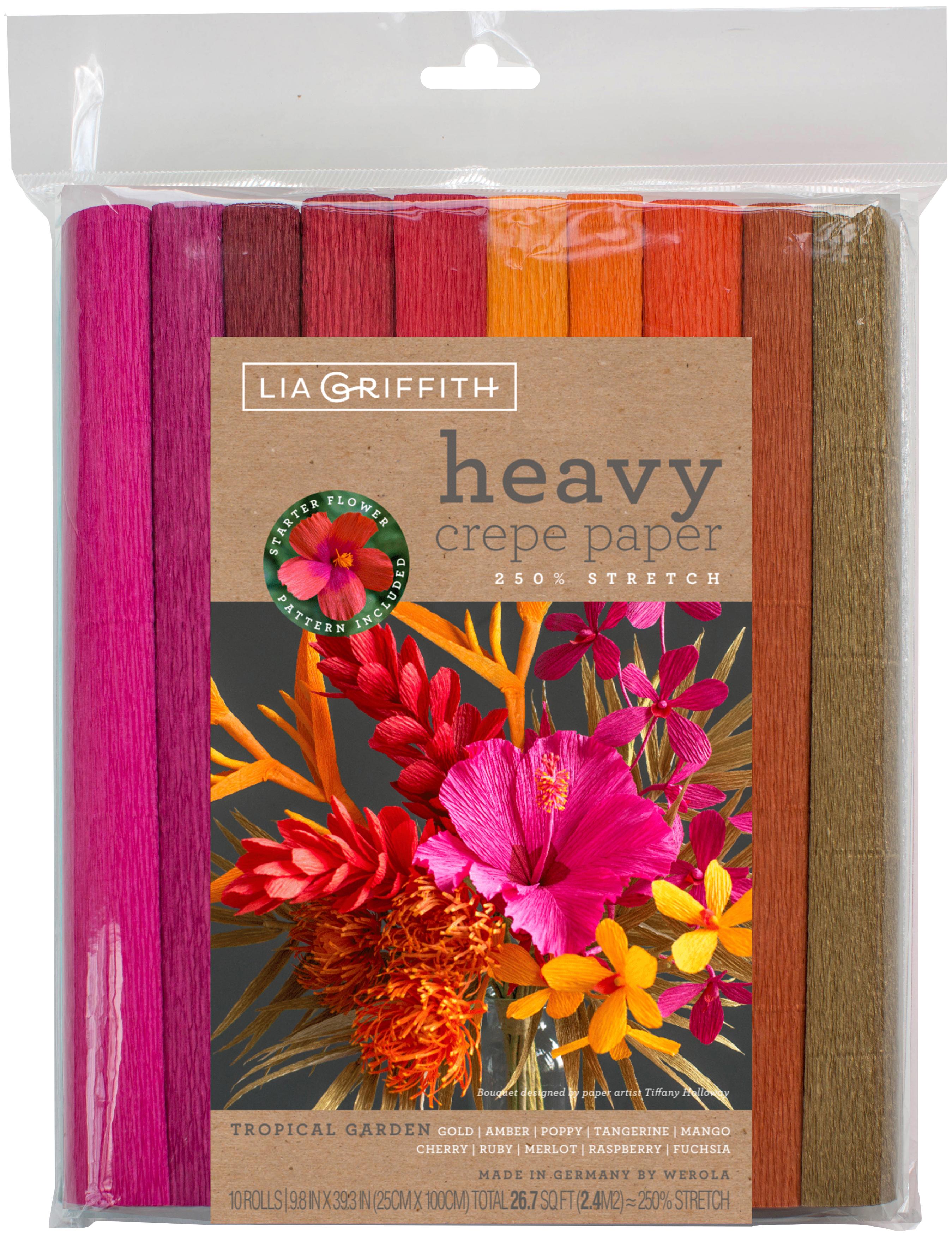 Heavy Crepe Paper 10/Pkg-Tropical Garden