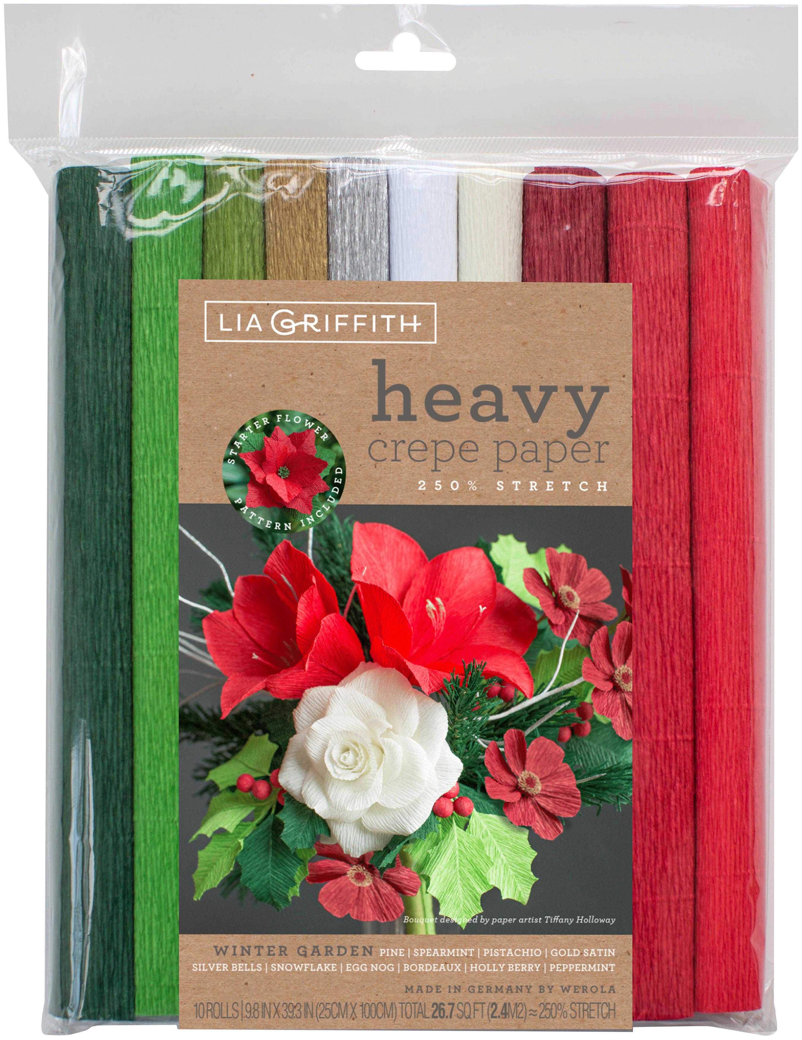 Heavy Crepe Paper 10/Pkg-Winter Garden