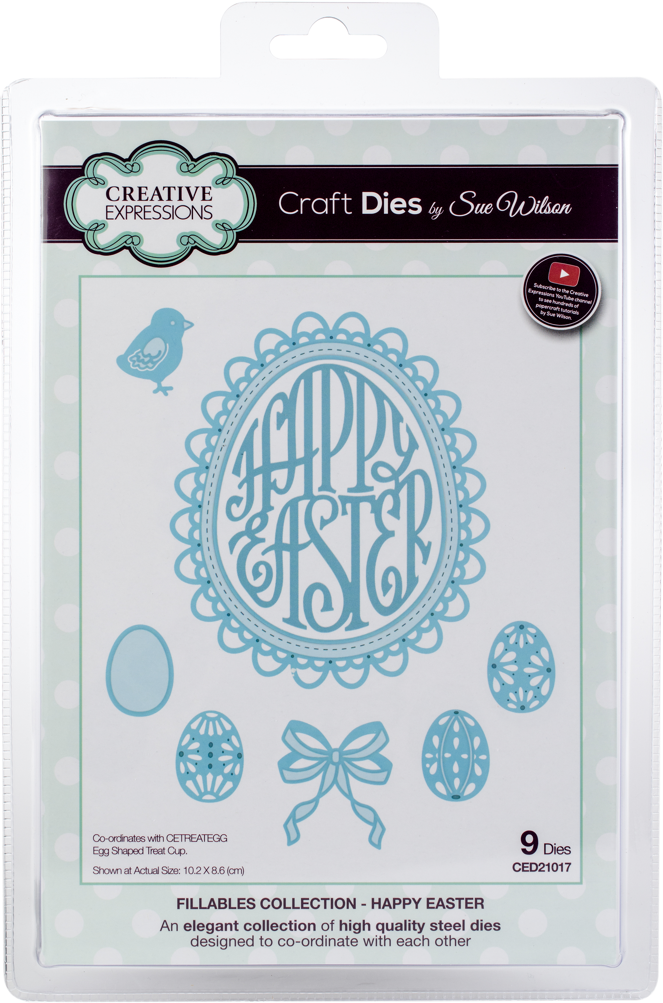 Creative Expressions Craft Dies By Sue Wilson-Fillables-Happy Easter