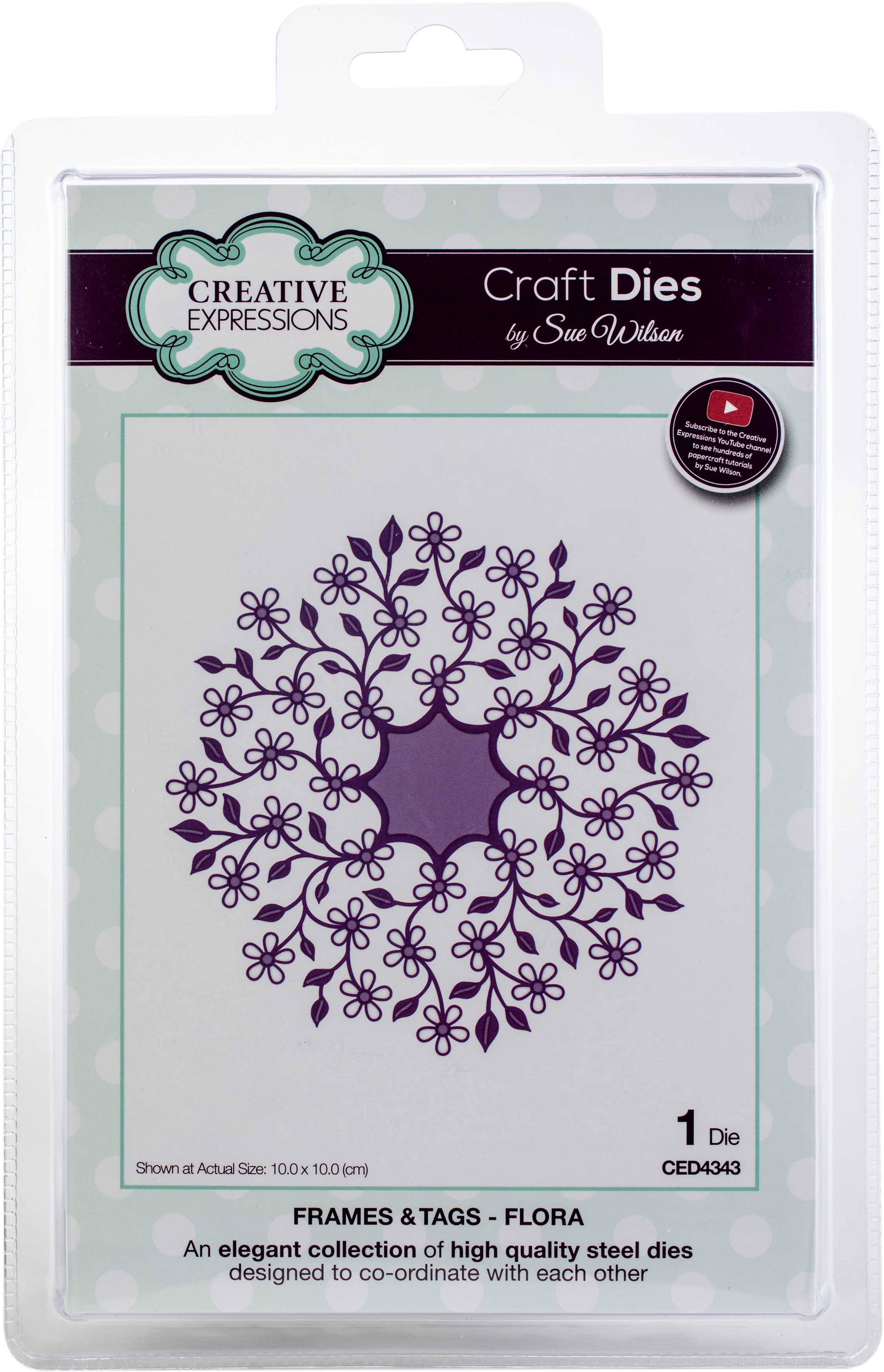 Creative Expressions Craft Dies By Sue Wilson-Frames & Tags-Flora