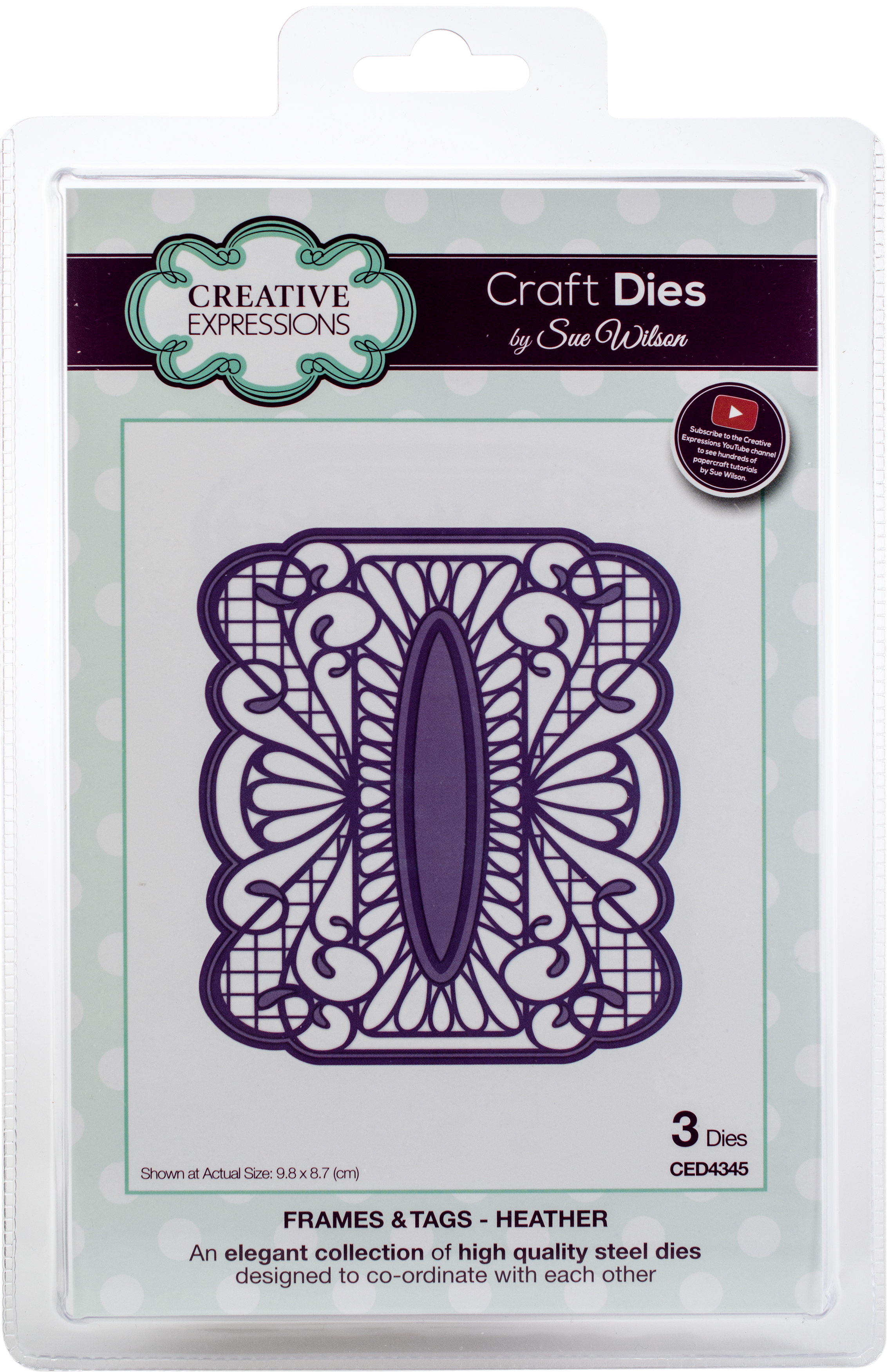 Creative Expressions Craft Dies By Sue Wilson-Frames & Tags-Heather