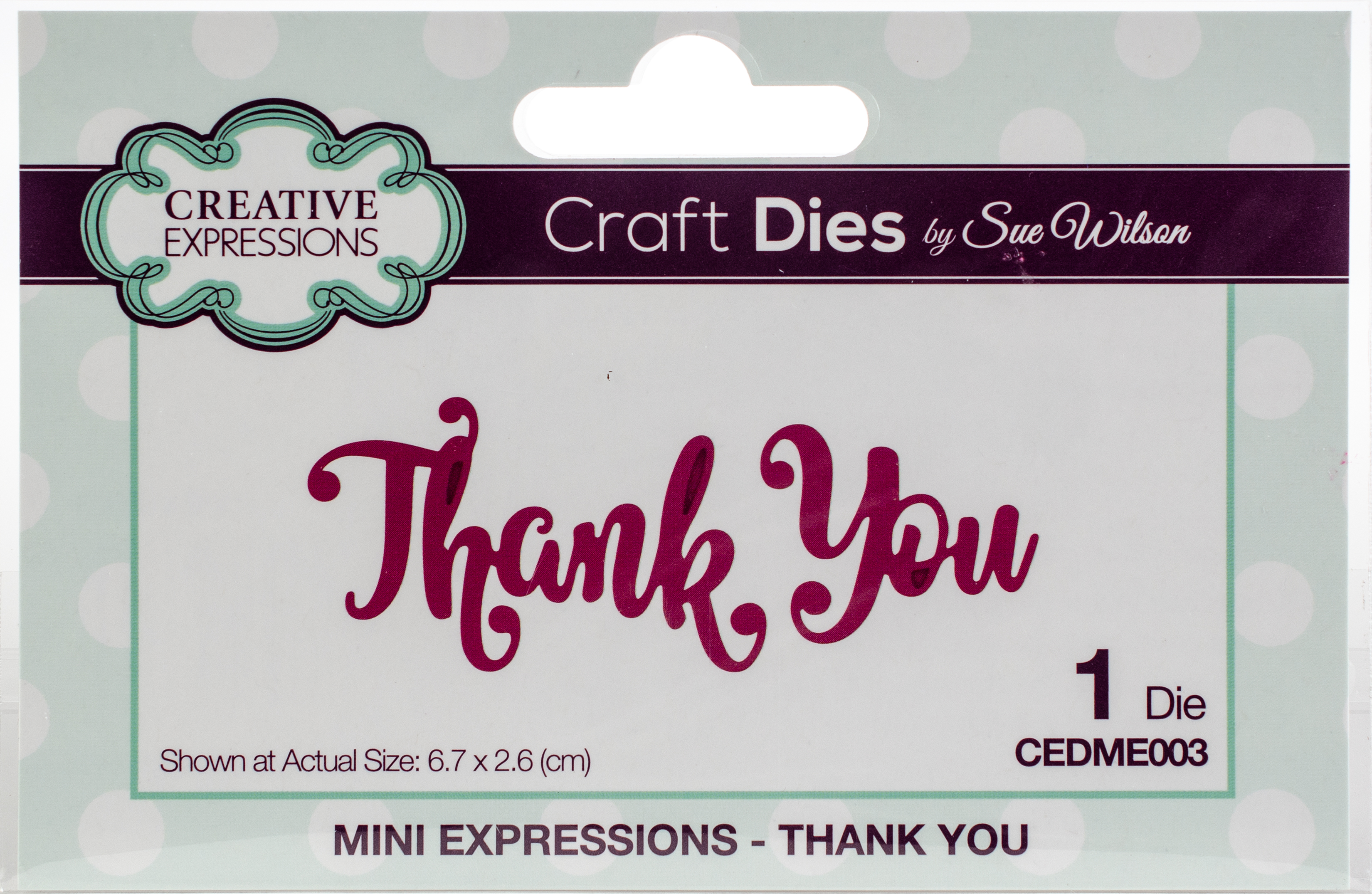 Creative Expressions Craft Dies By Sue Wilson-Mini Expressions-Thank You