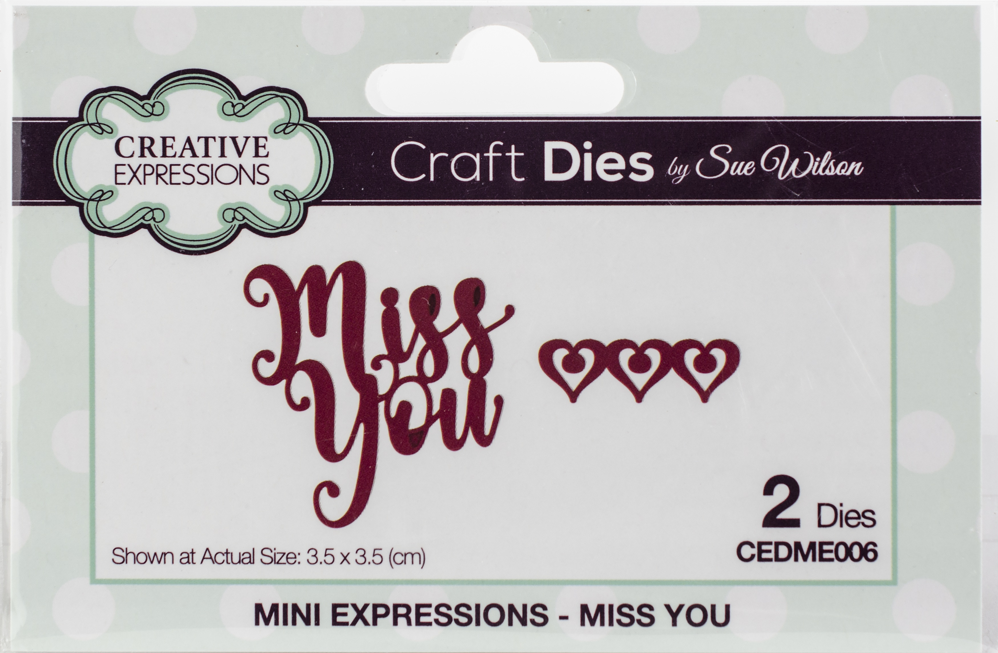 Creative Expressions Craft Dies By Sue Wilson-Mini Expressions-Miss You