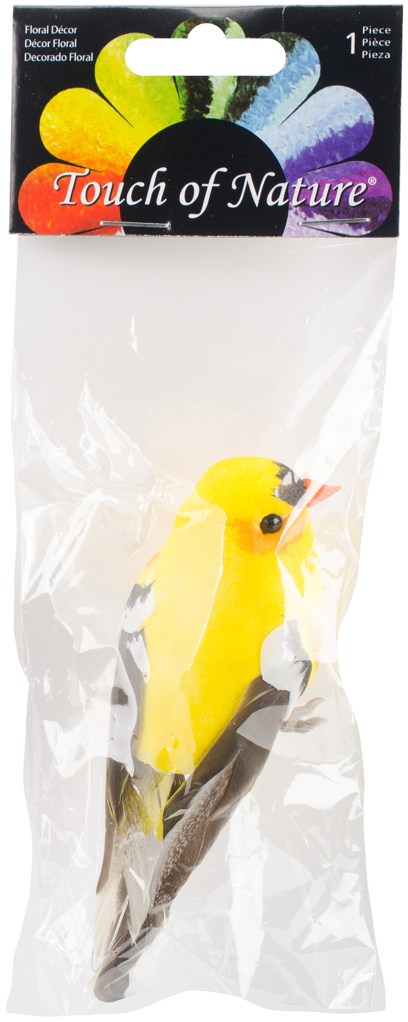 Mushroom Bird W/Wire 4-American Goldfinch