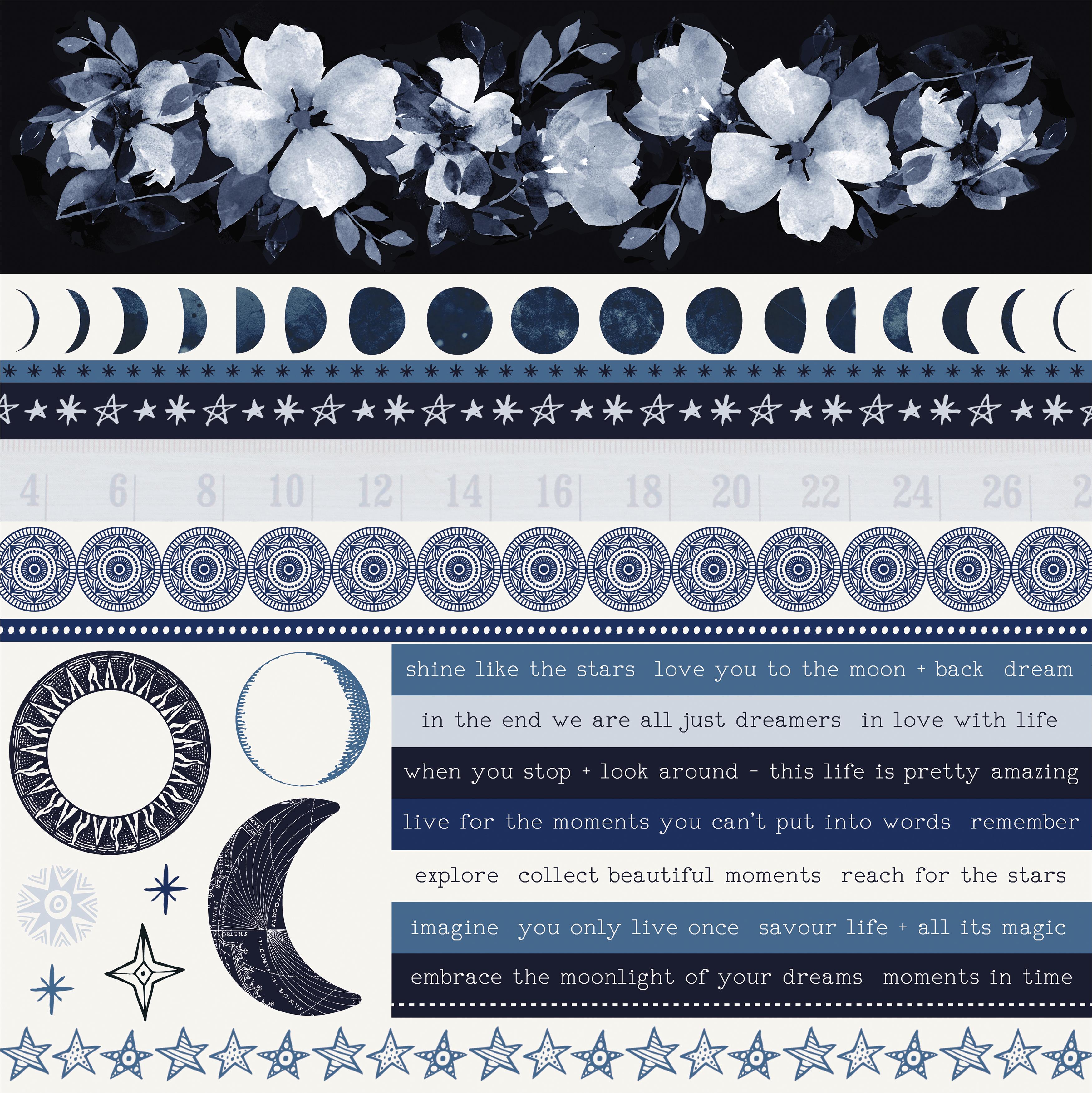 Stargazer Cardstock Stickers 12X12