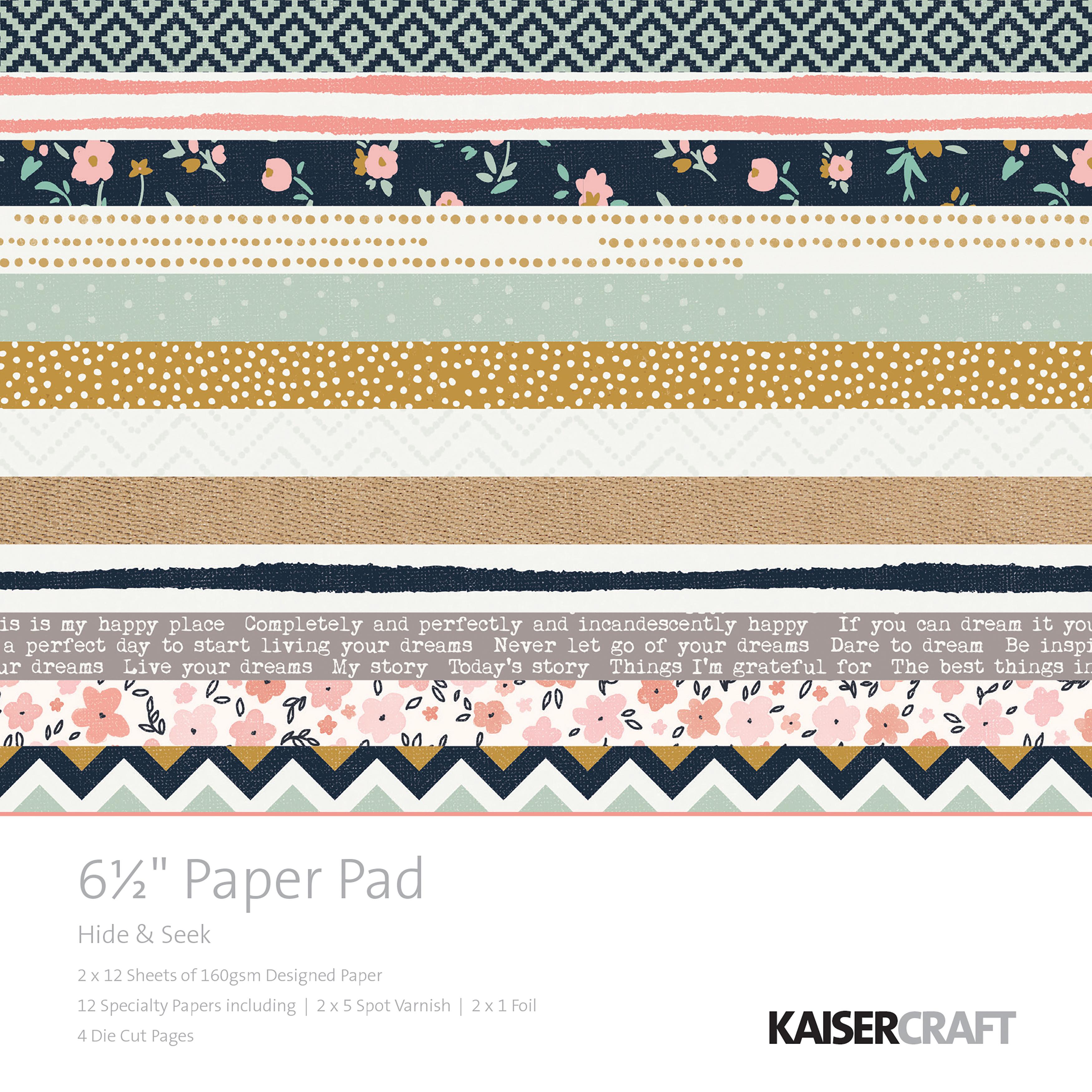 Kaisercraft Paper Pad 6.5X6.5 40/Pkg-Hide & Seek
