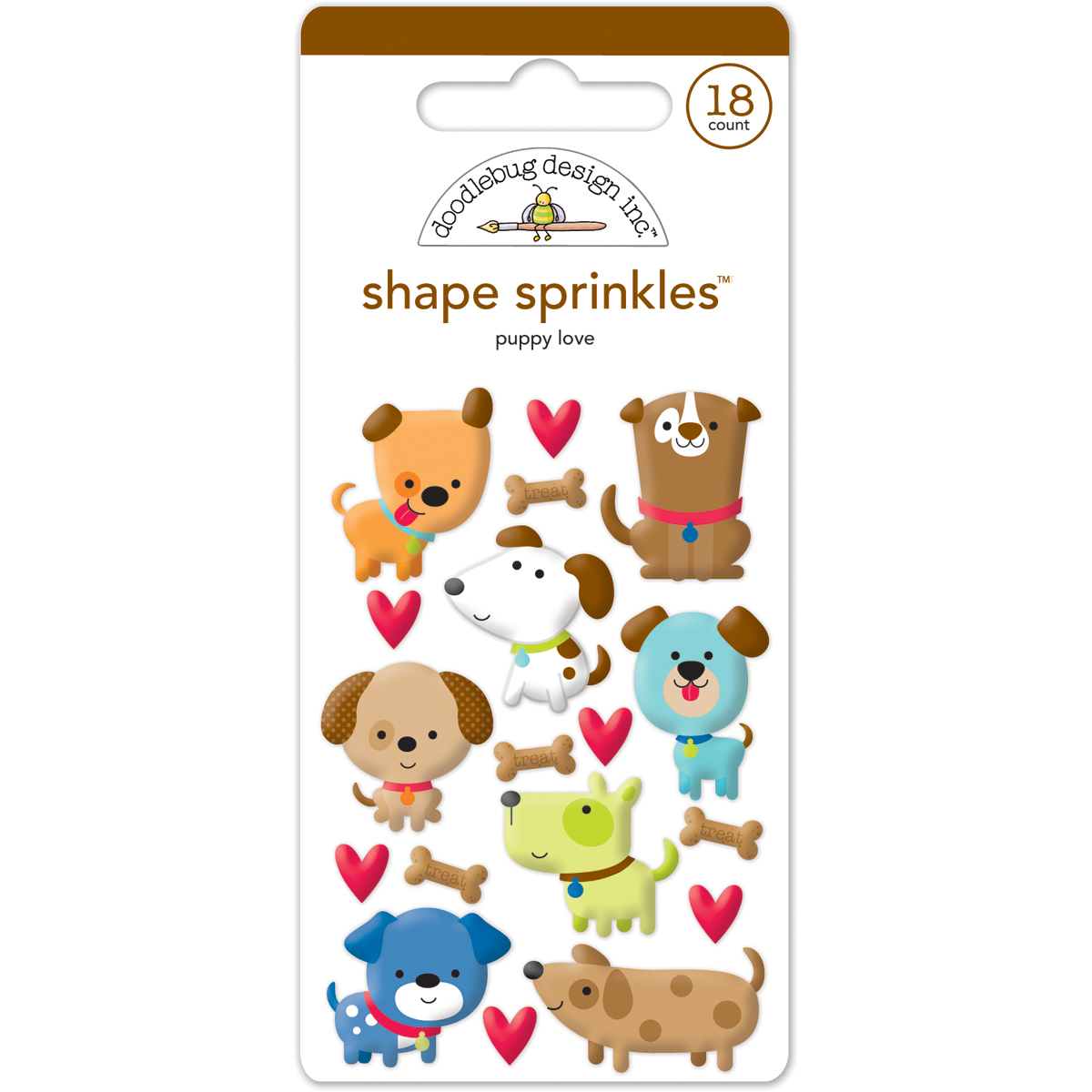 Doodlebug Shape Sprinkles Puppy Love