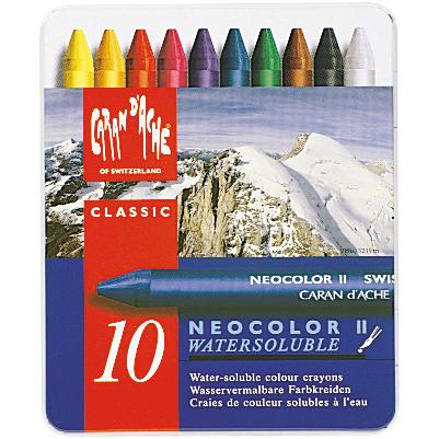Caran D'Ache NeoColor II Water Soluble Wax Pastel Set 10/Pkg-