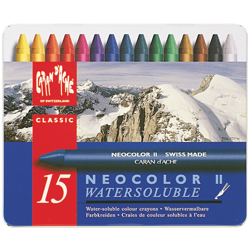 Caran D'Ache NeoColor II Water Soluble Wax Pastel Set 15/Pkg-