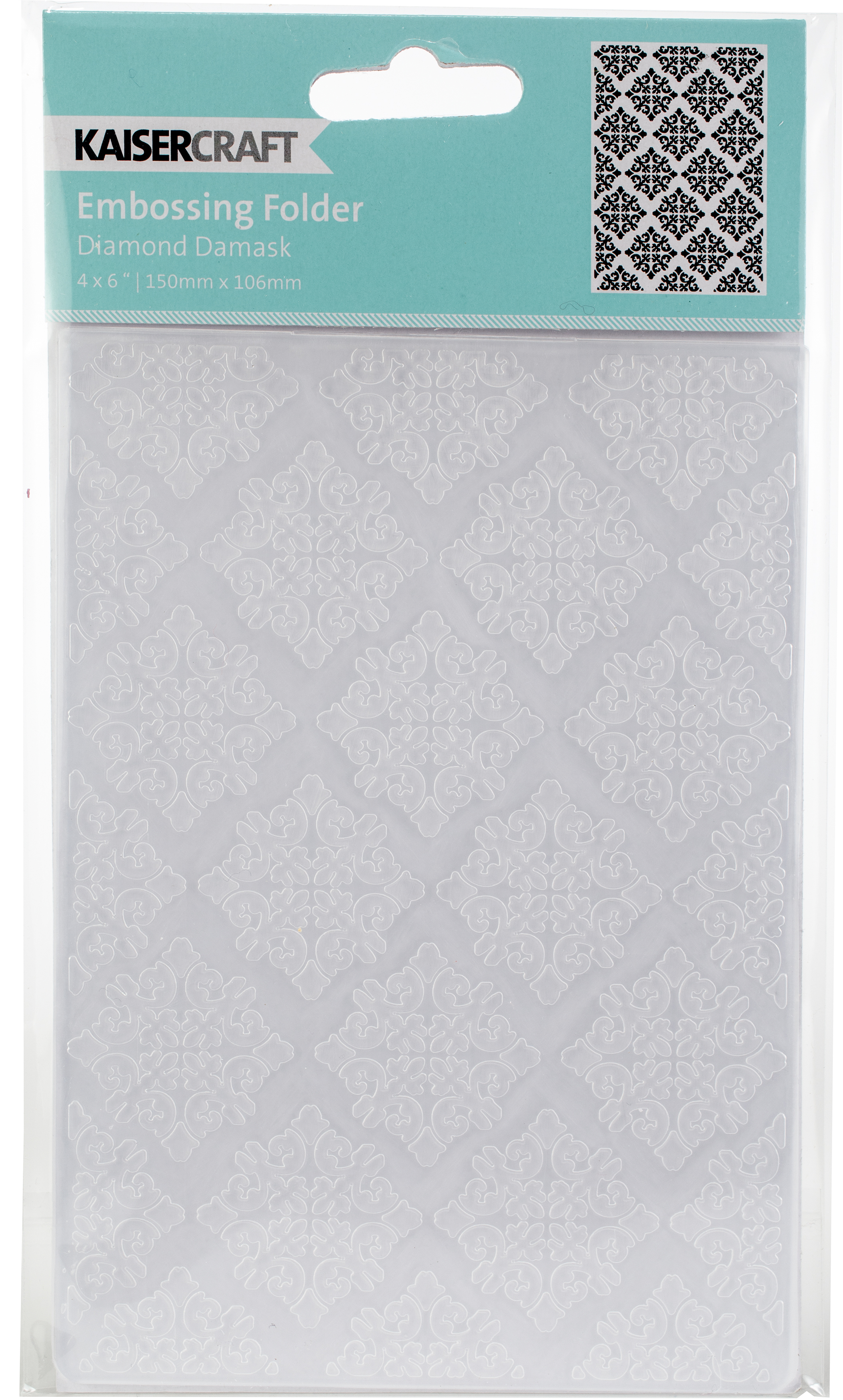 Kaisercraft Embossing Folder 4X6-Diamond Damask