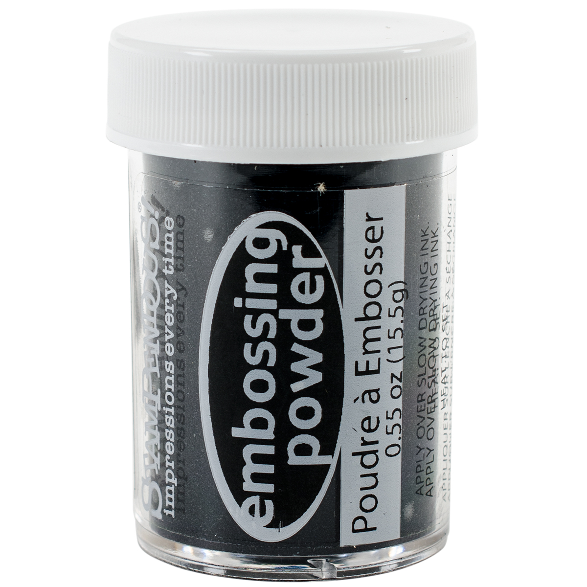 Stampendous Embossing Powder .55oz-Black Opaque