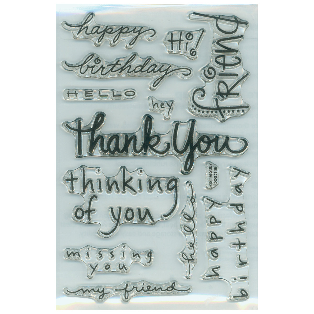 Stampendous Perfectly Clear Stamps -Happy Messages