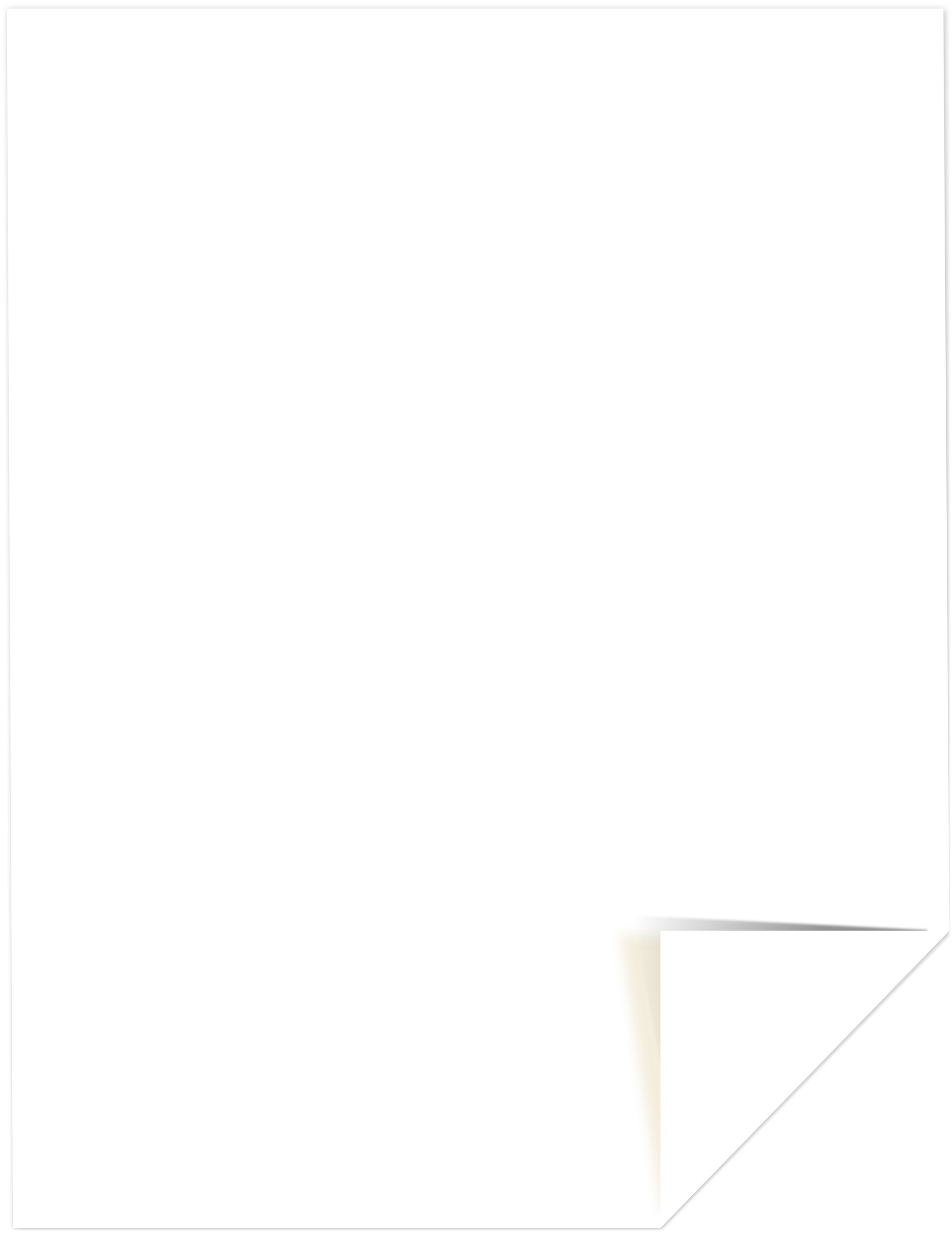 Neenah 110lb Classic Crest Cardstock 8.5X11 25/Pkg-Solar White