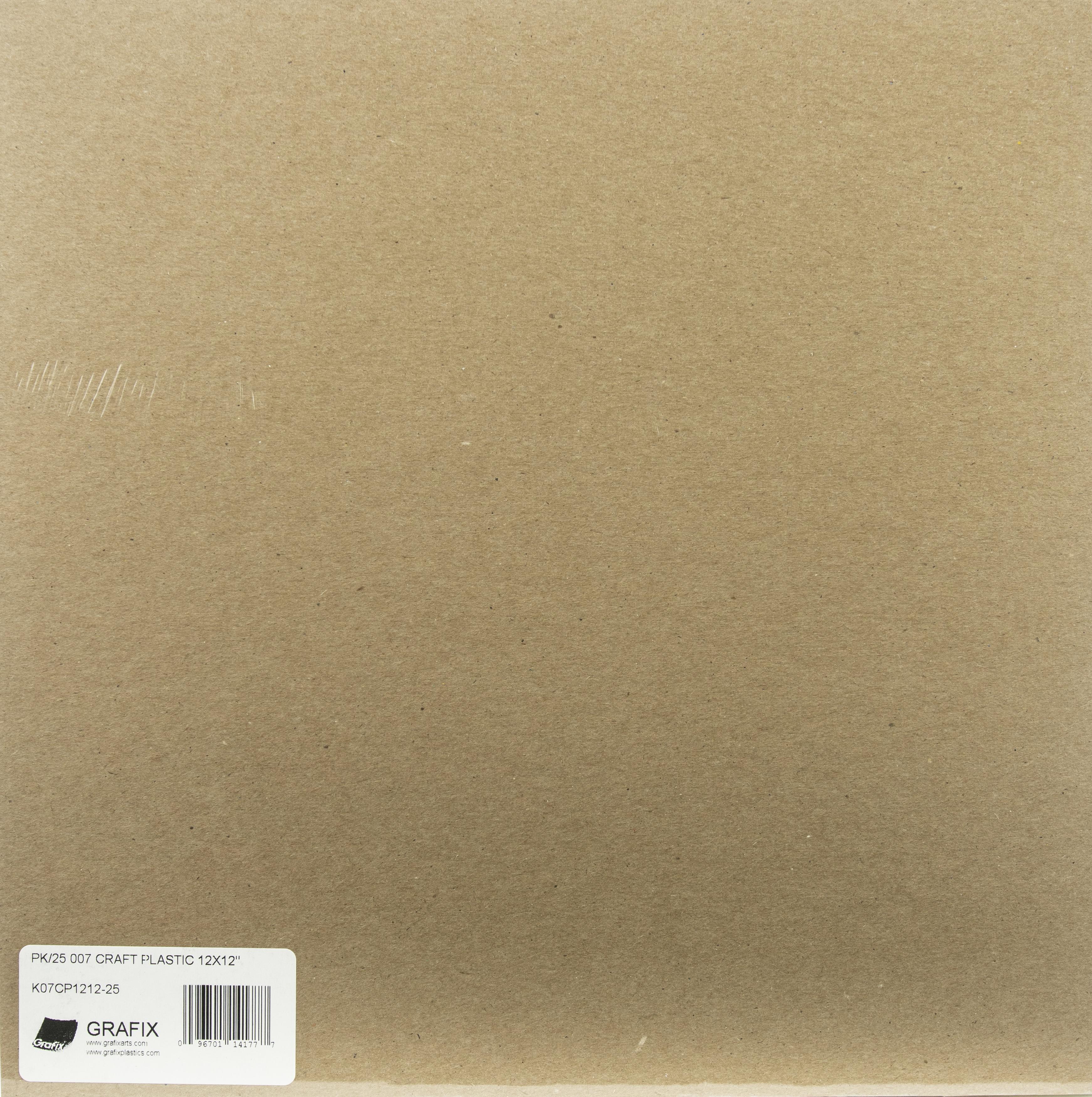 Clear Craft Plastic Sheet 12X12