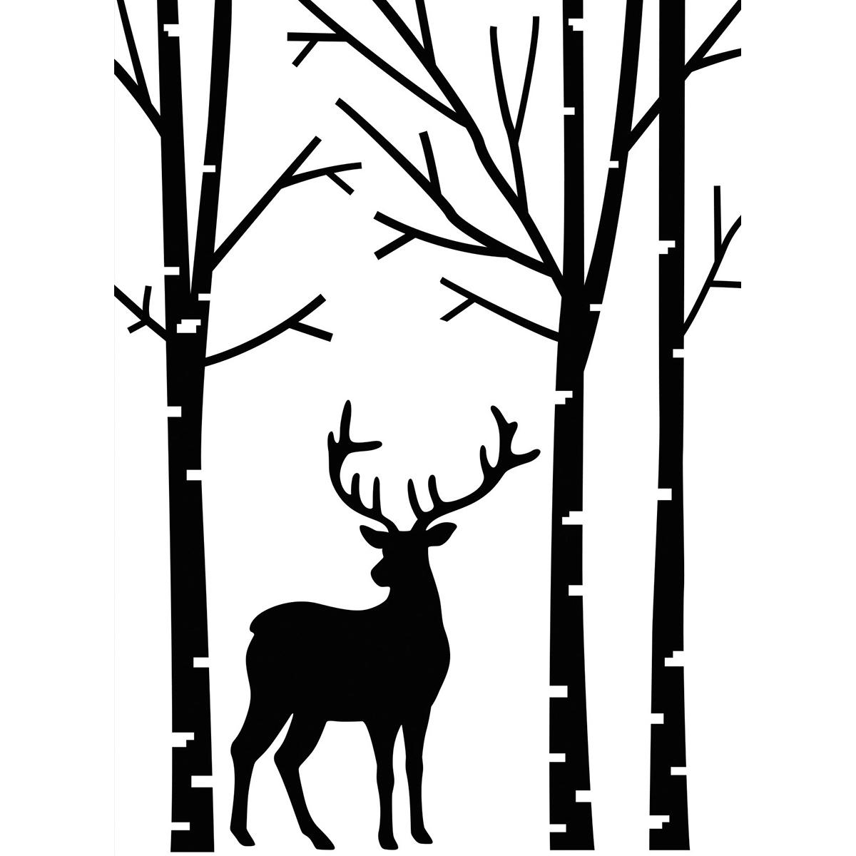 Darice Dear in Forest embossing folder