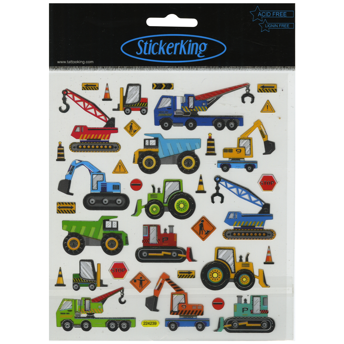 Sticker King Construction Vehicles Stickers