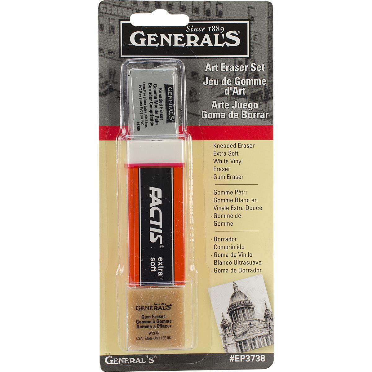 General Pencil Co Art Eraser Pack
