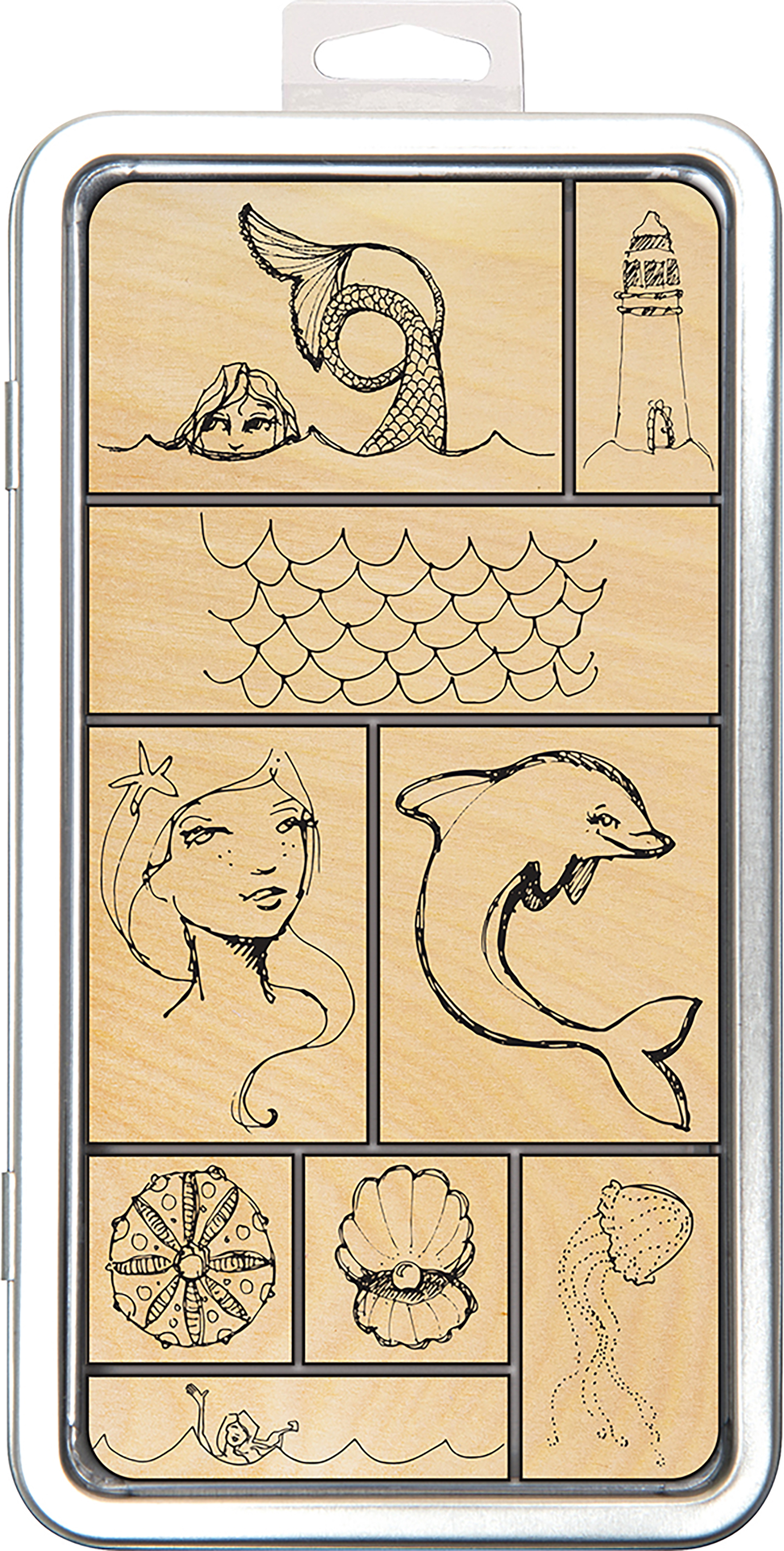 Jane Davenport Artomology Stamp Tin Set-Mermaids