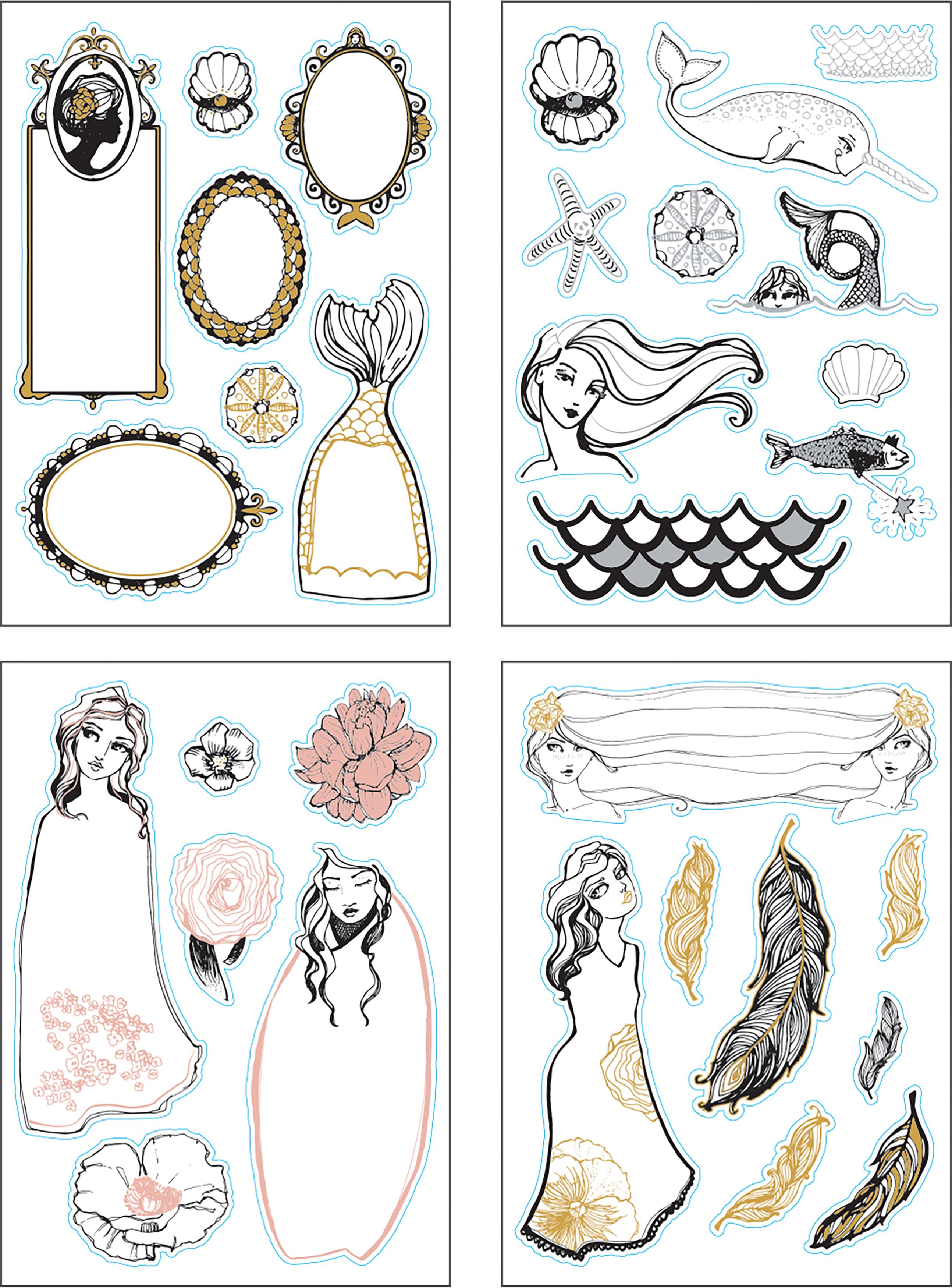 Jane Davenport Artomology Colorist Sticker Booklet-
