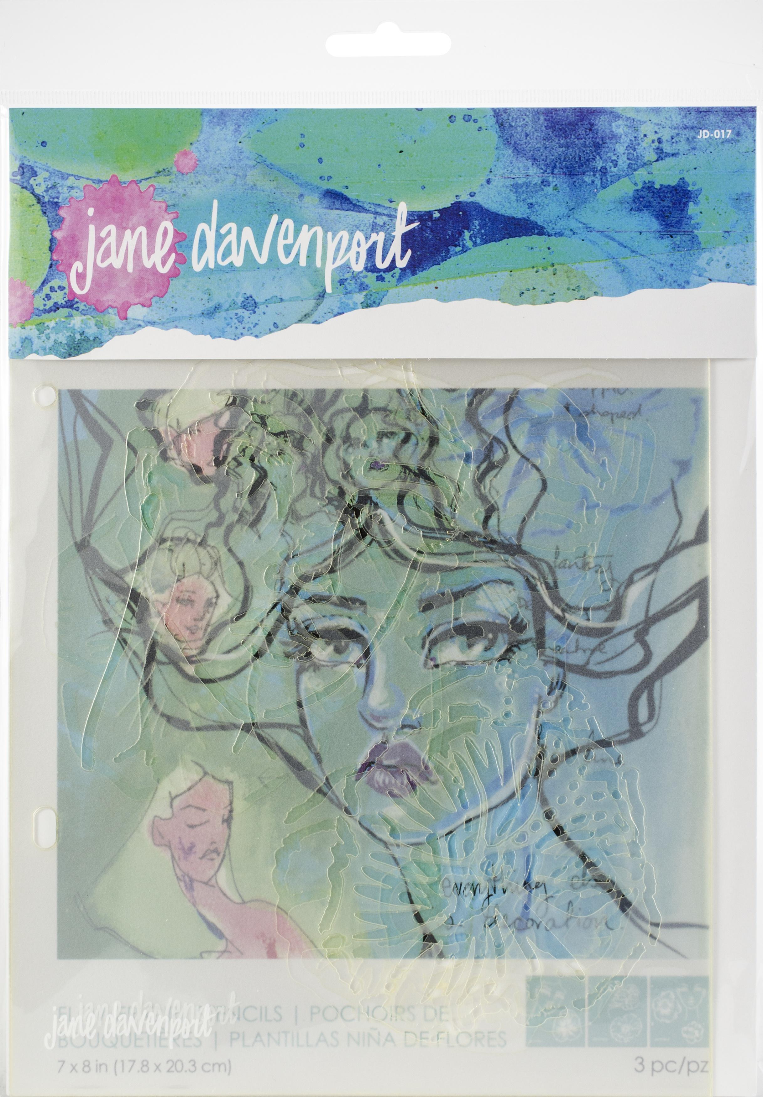 Jane Davenport Artomology Stencils-Flower Girl
