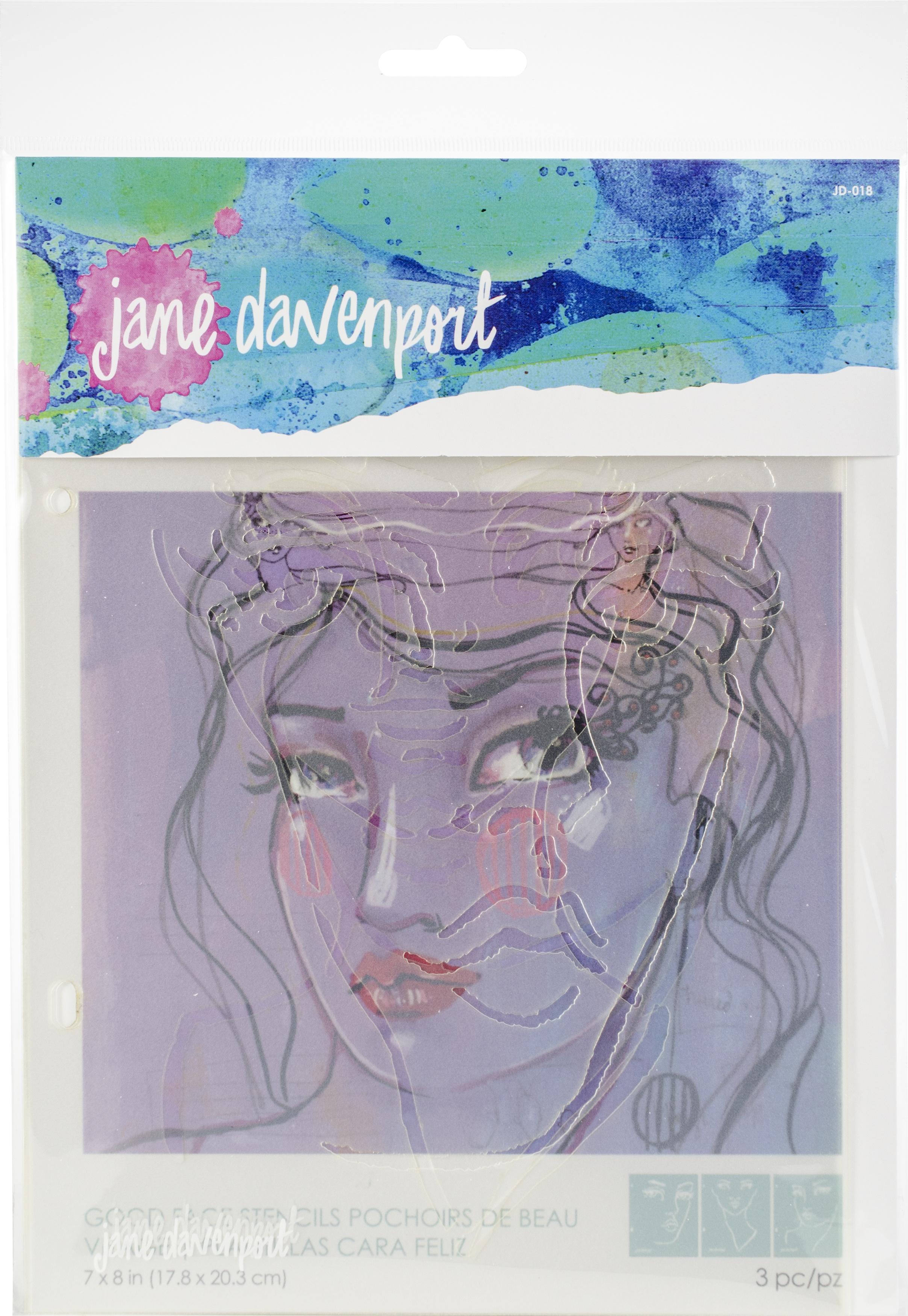 Jane Davenport Artomology Stencils-Good Face
