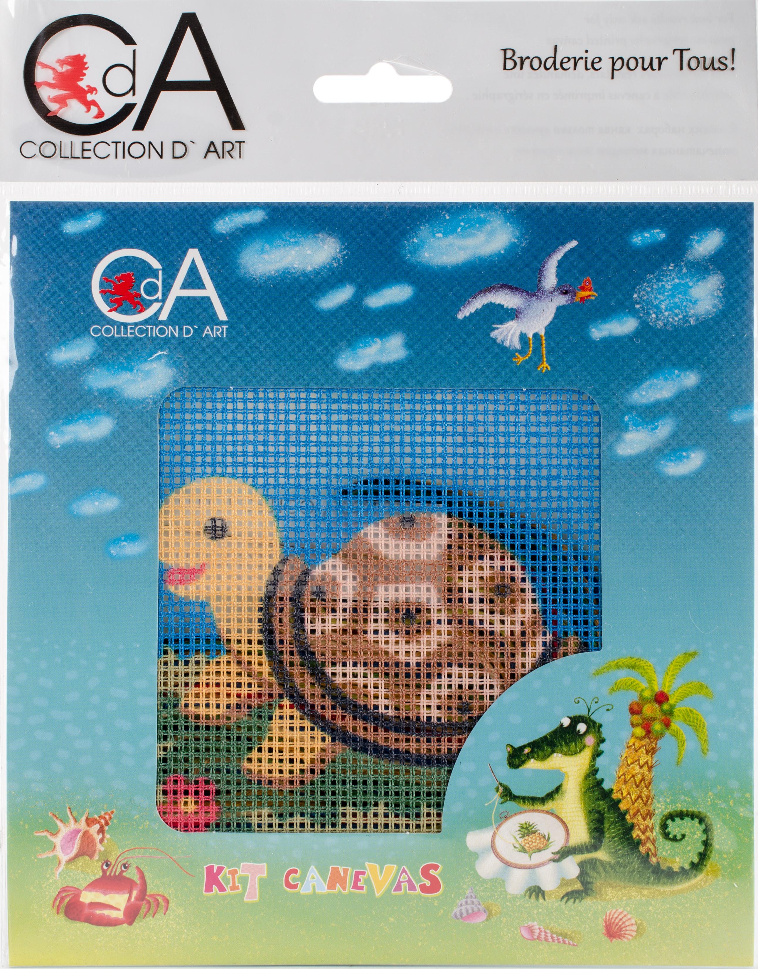 Tortoise Stamped Needlepoint Kit