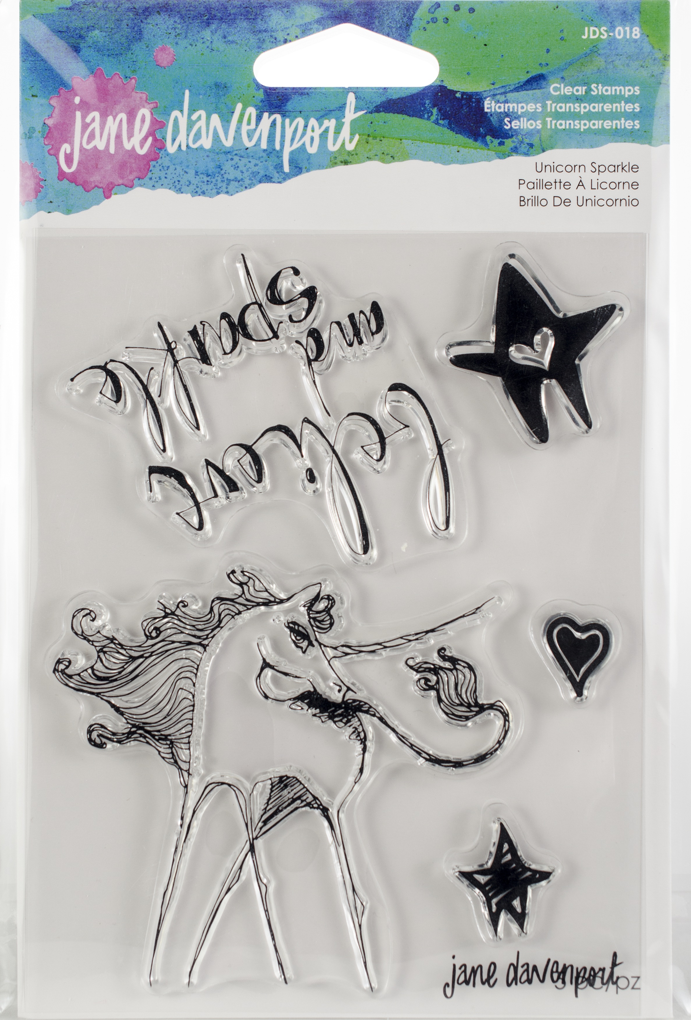 Jane Davenport Artomology Clear Stamps-Unicorn Sparkle