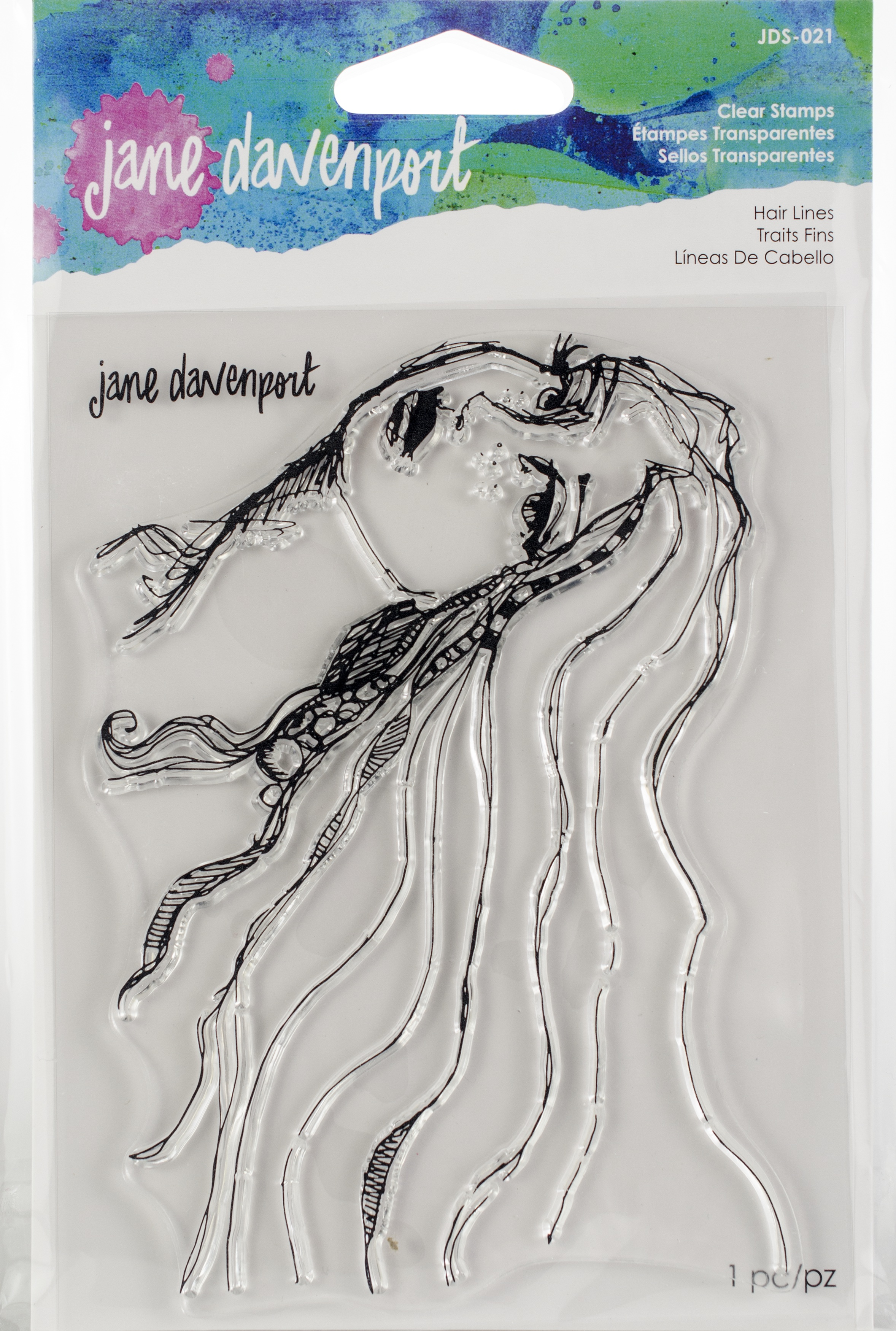 Jane Davenport Artomology Clear Stamps-Hair Lines