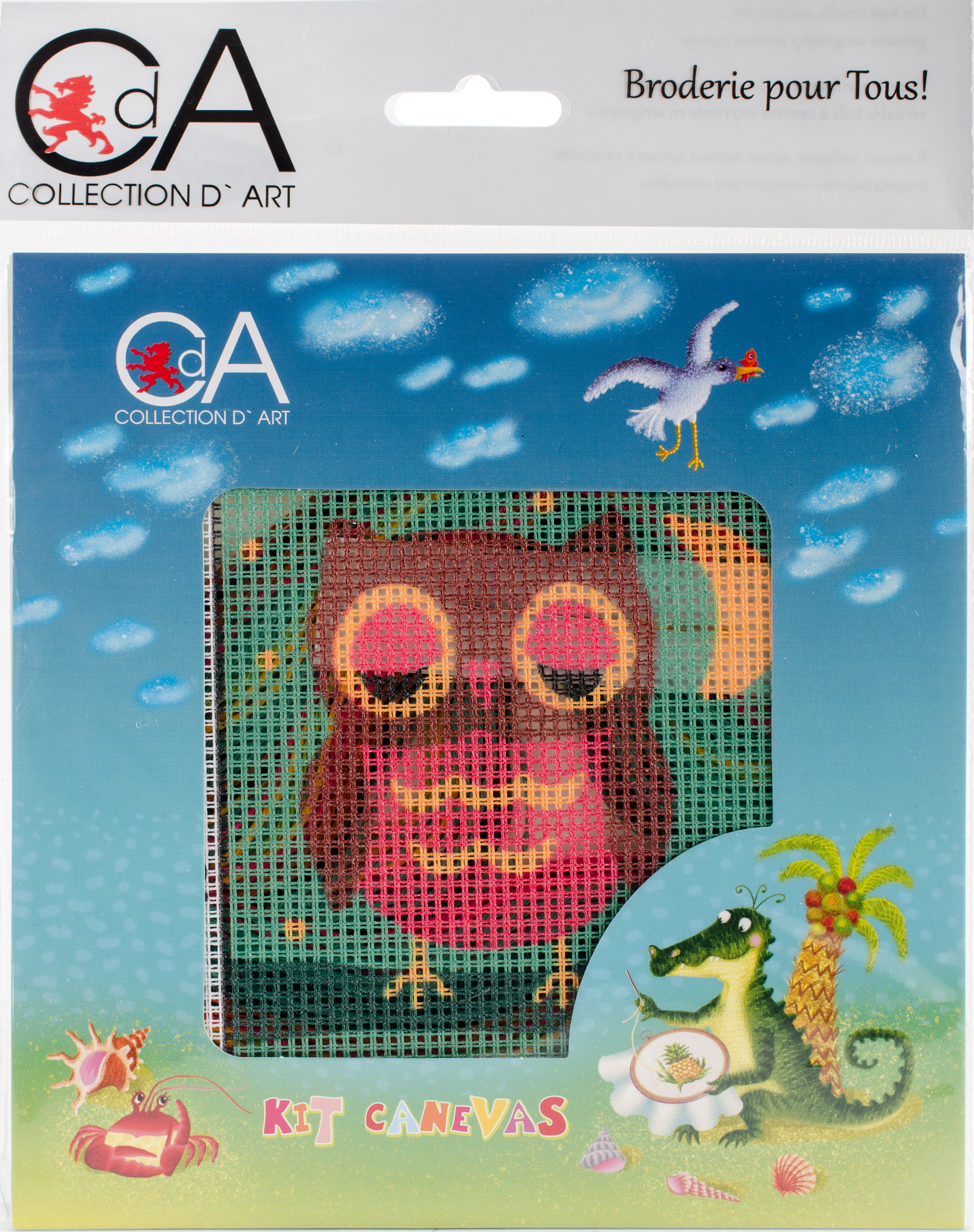 Owlet Stamped Needlepoint Kit
