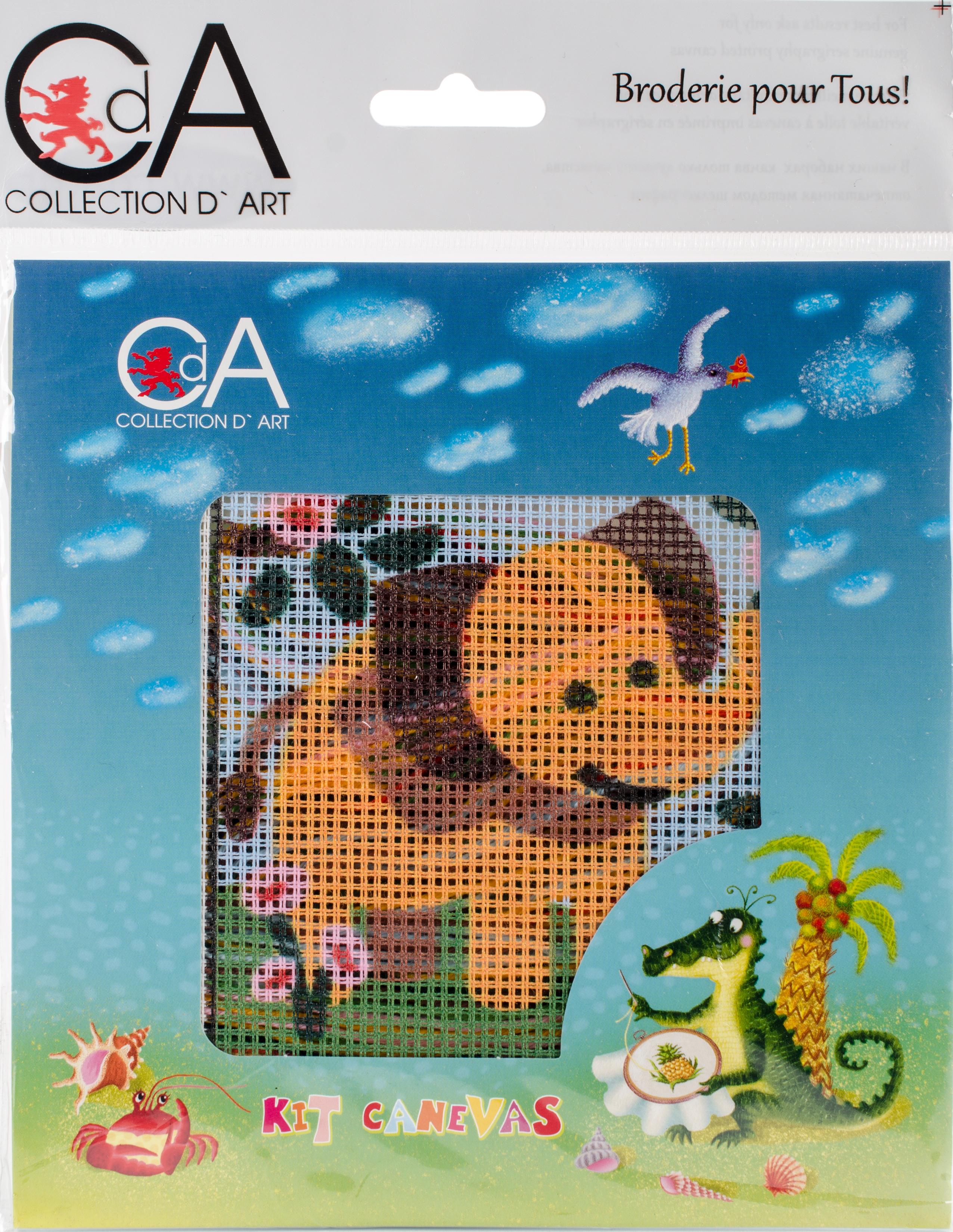 Elephant Stamped Needlepoint Kit