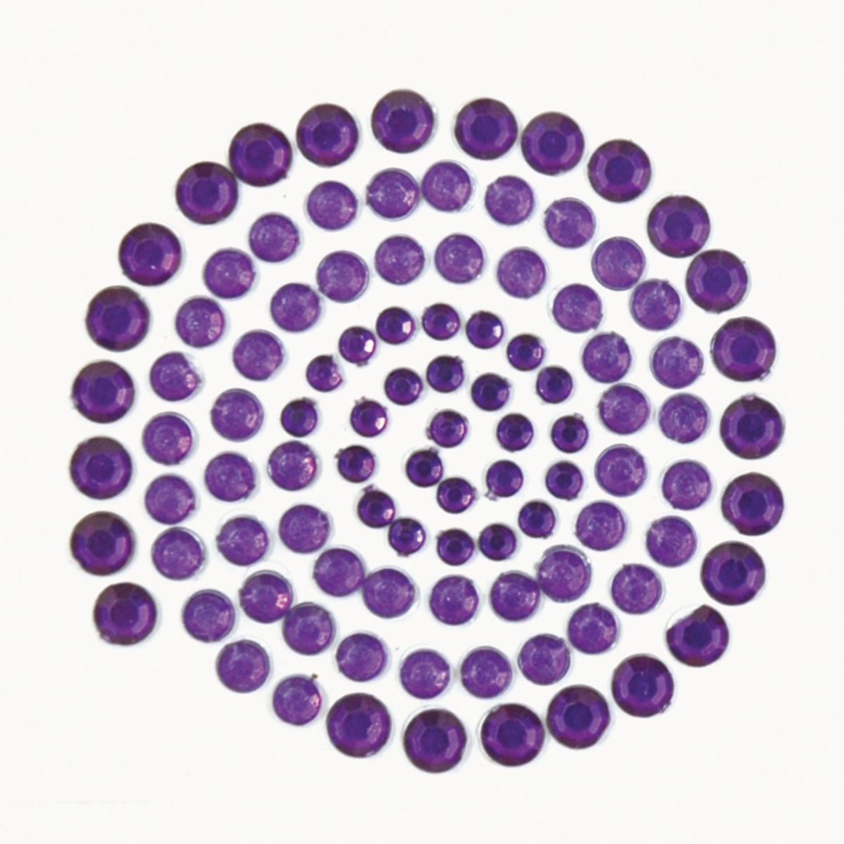 Dark Purple Rhinestones